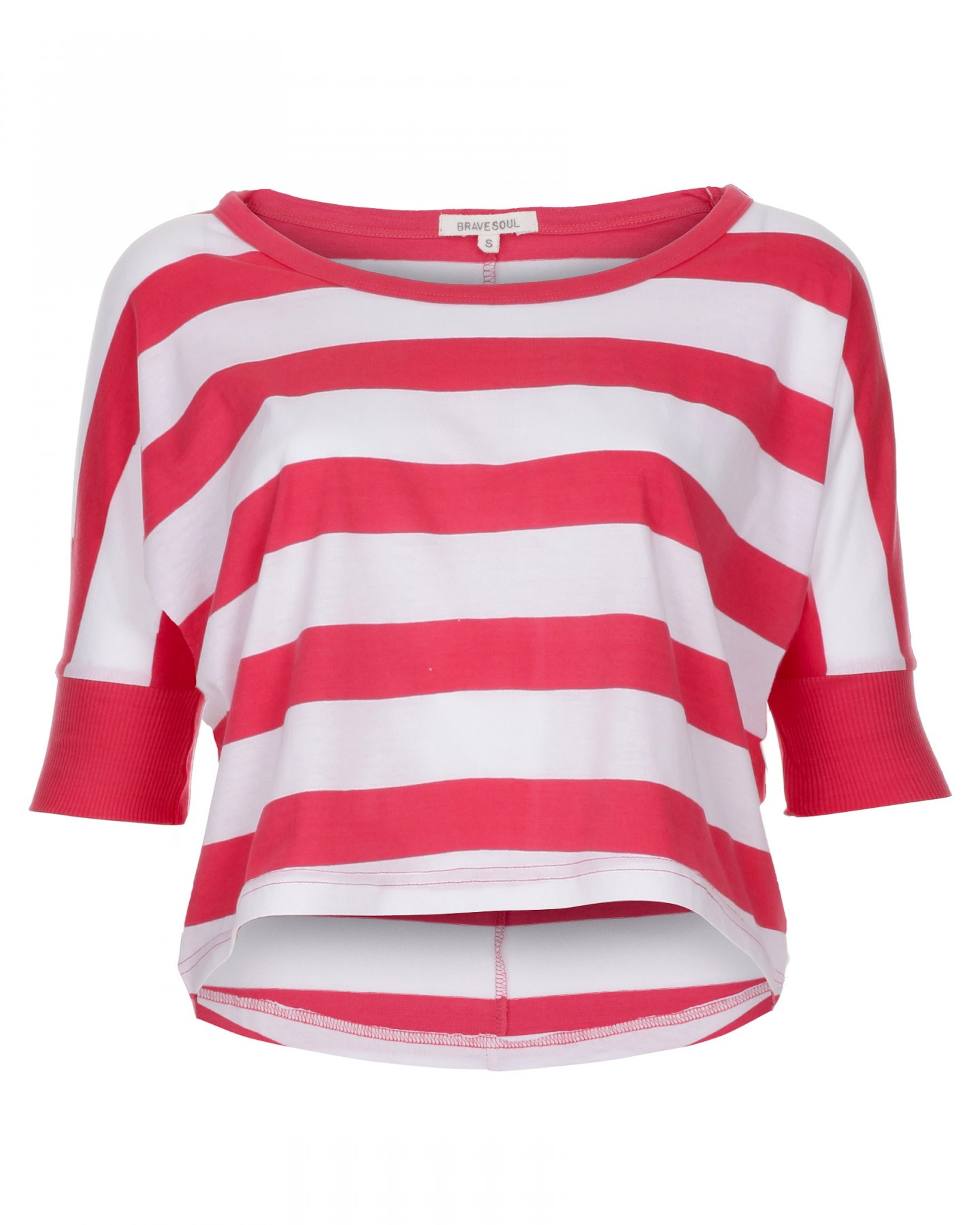 Blue inc womens cropped striped t shirt red ebay for Red blue striped shirt