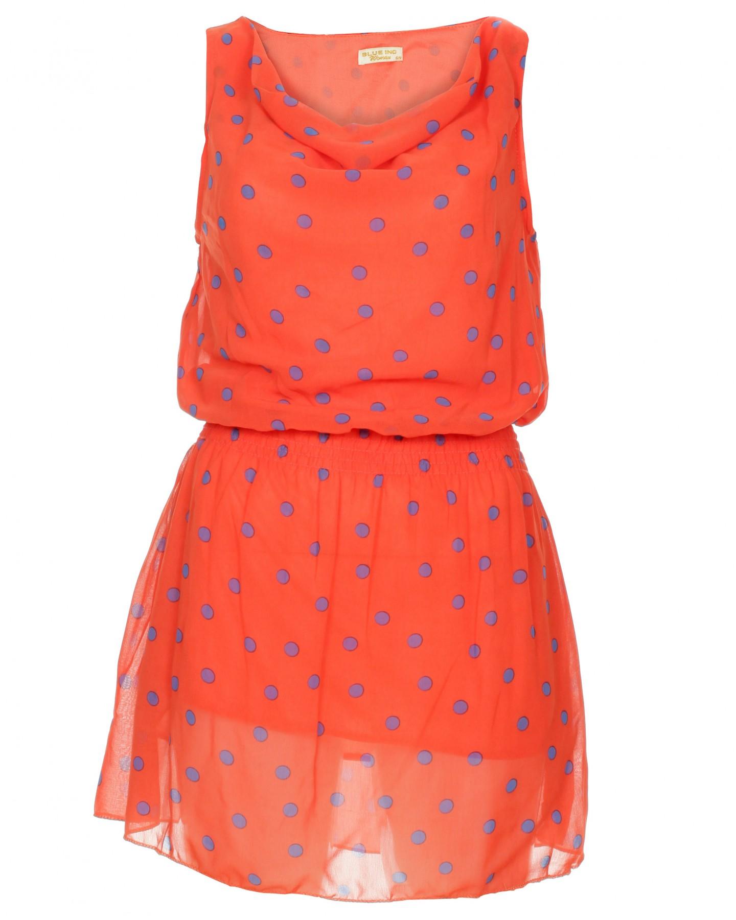 blue inc womens polka dot dress orange ebay