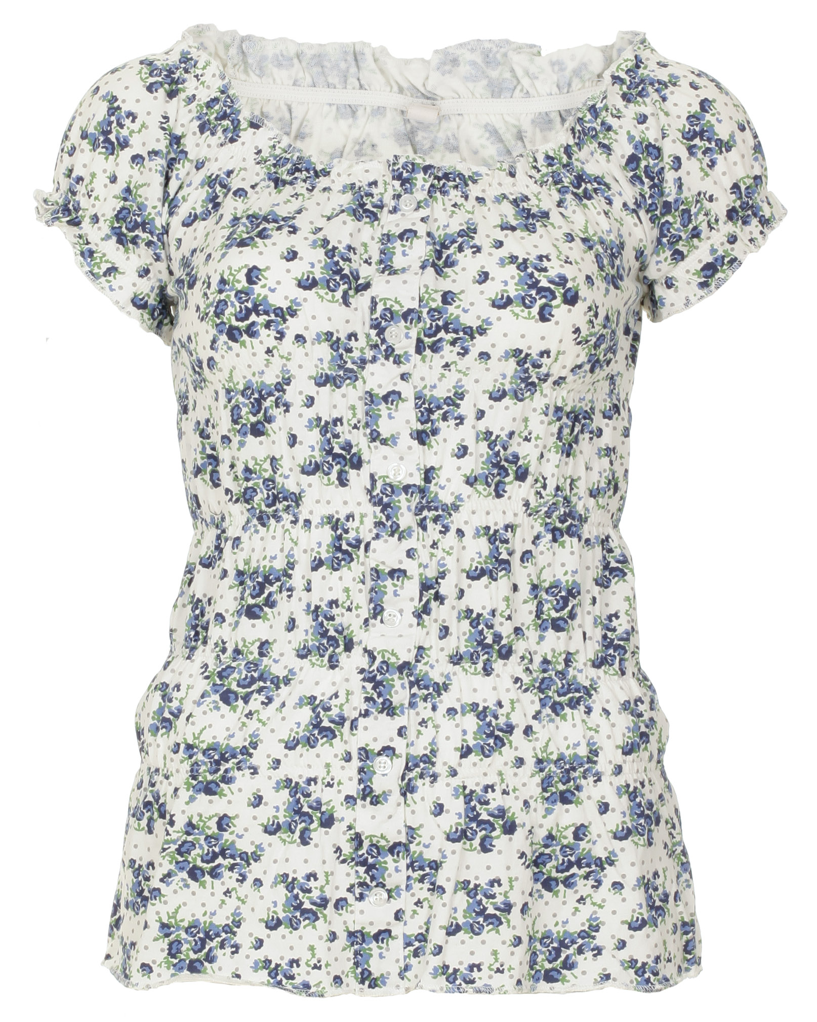 Blue-Inc-Womens-Brave-Soul-Floral-Print-T-shirt-Blue