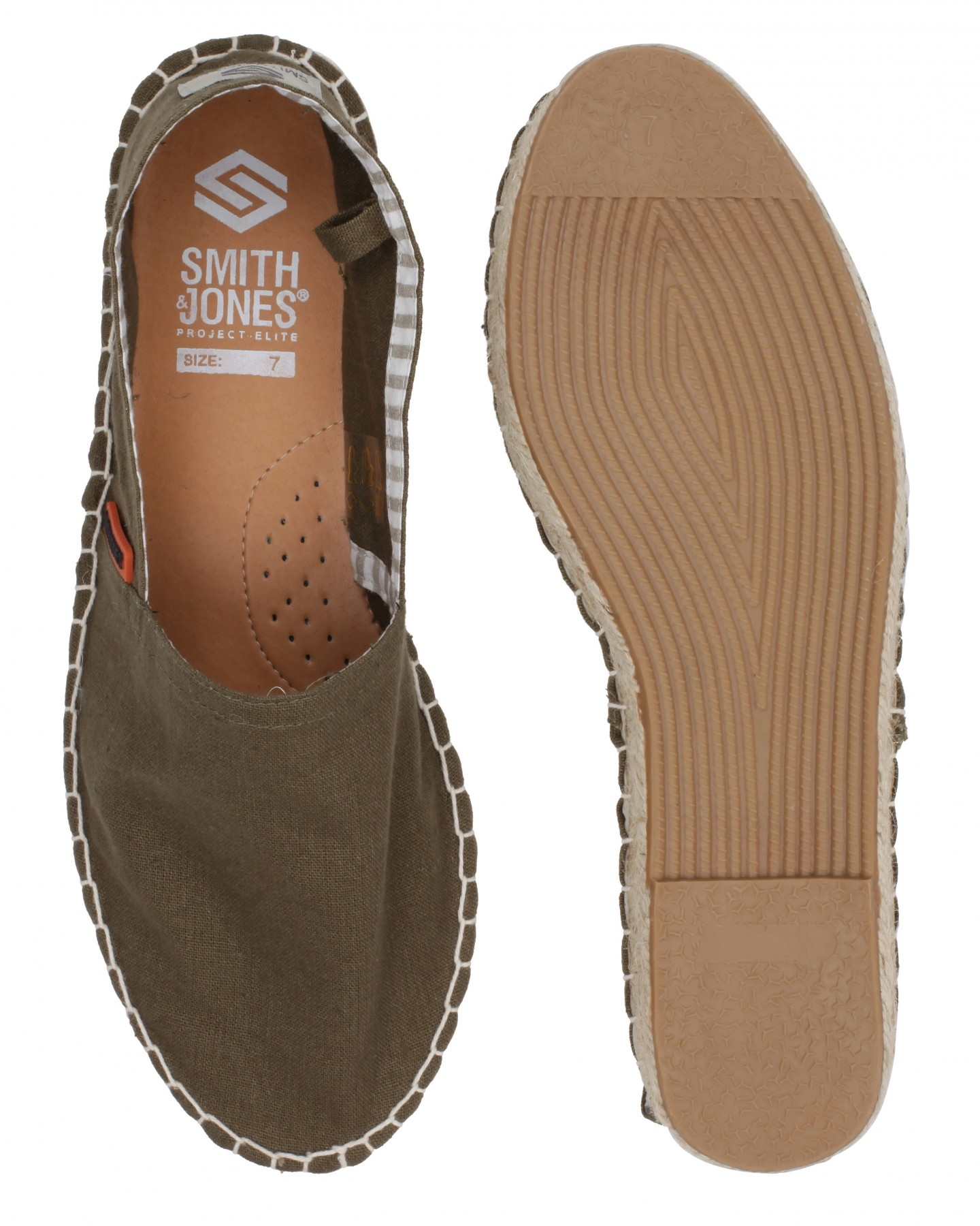 Blue-Inc-Mens-Smith-And-Jones-Shanty-Espadrille-Shoes-Olive