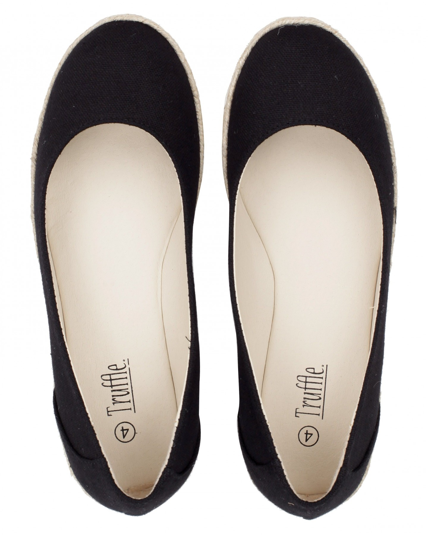 Blue-Inc-Womens-Plain-Canvas-Ballet-Pumps-Black