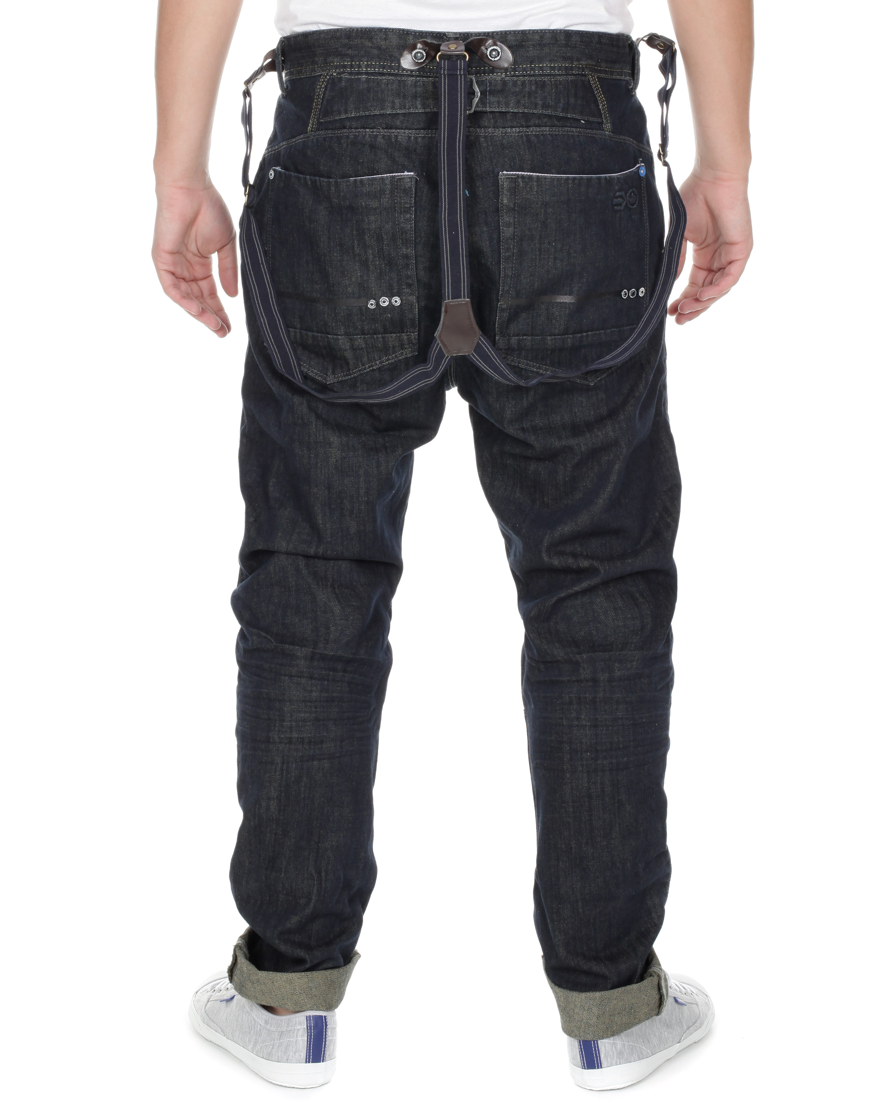 Blue-Inc-Mens-Crosshatch-Morocco-O-Leg-Brace-Jeans-Navy-Blue