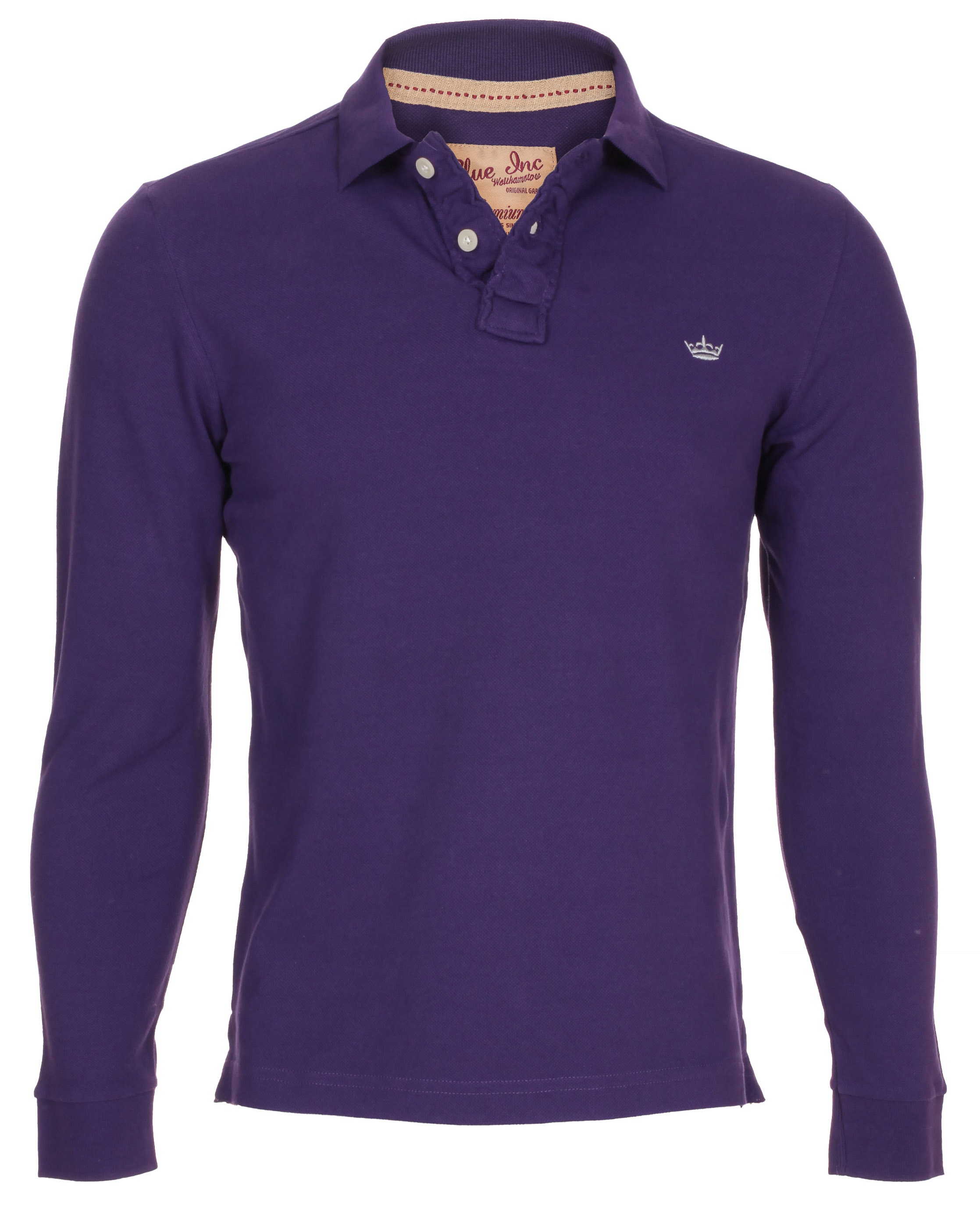 Blue-Inc-Mens-LS-Dry-Polo-Jersey-Purple-New