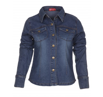 Blue-Inc-Miss-Posh-Ladies-Denim-Long-Sleeve-Shirt-Jacket-Blue