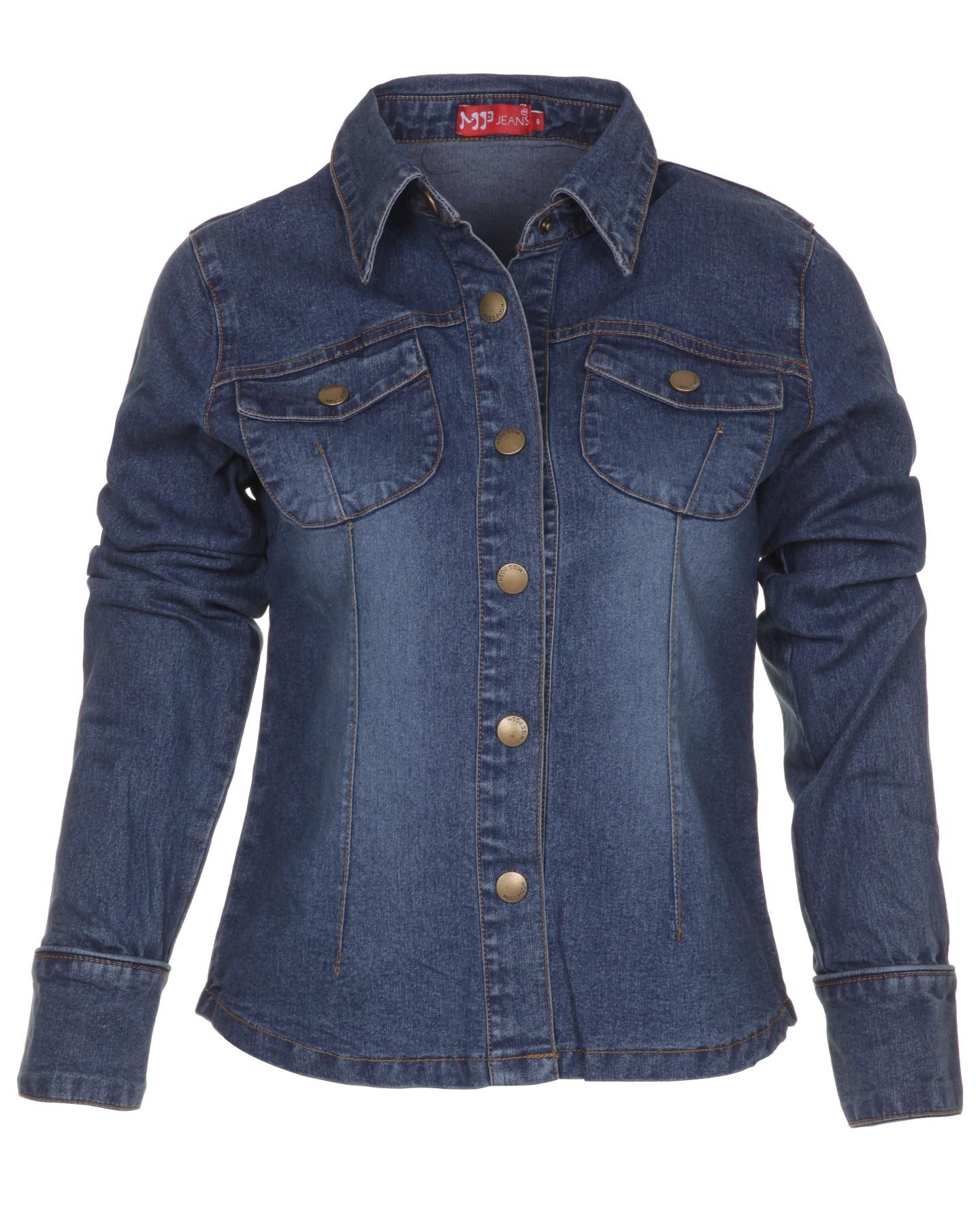 Blue-Inc-Miss-Posh-Ladies-Denim-Long-Sleeve-Shirt-Jacket-Blue
