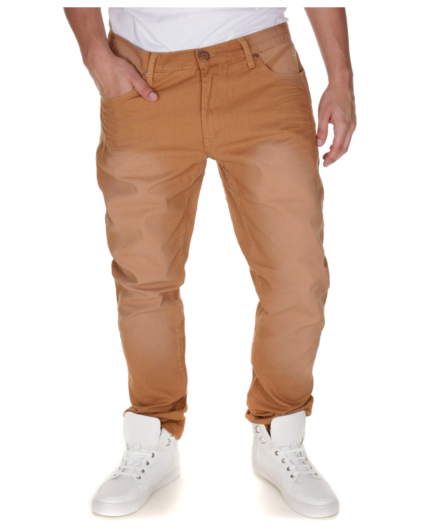 Blue-Inc-Mens-BC-London-Colour-Twill-Jeans-Carrot-Fit-Camel