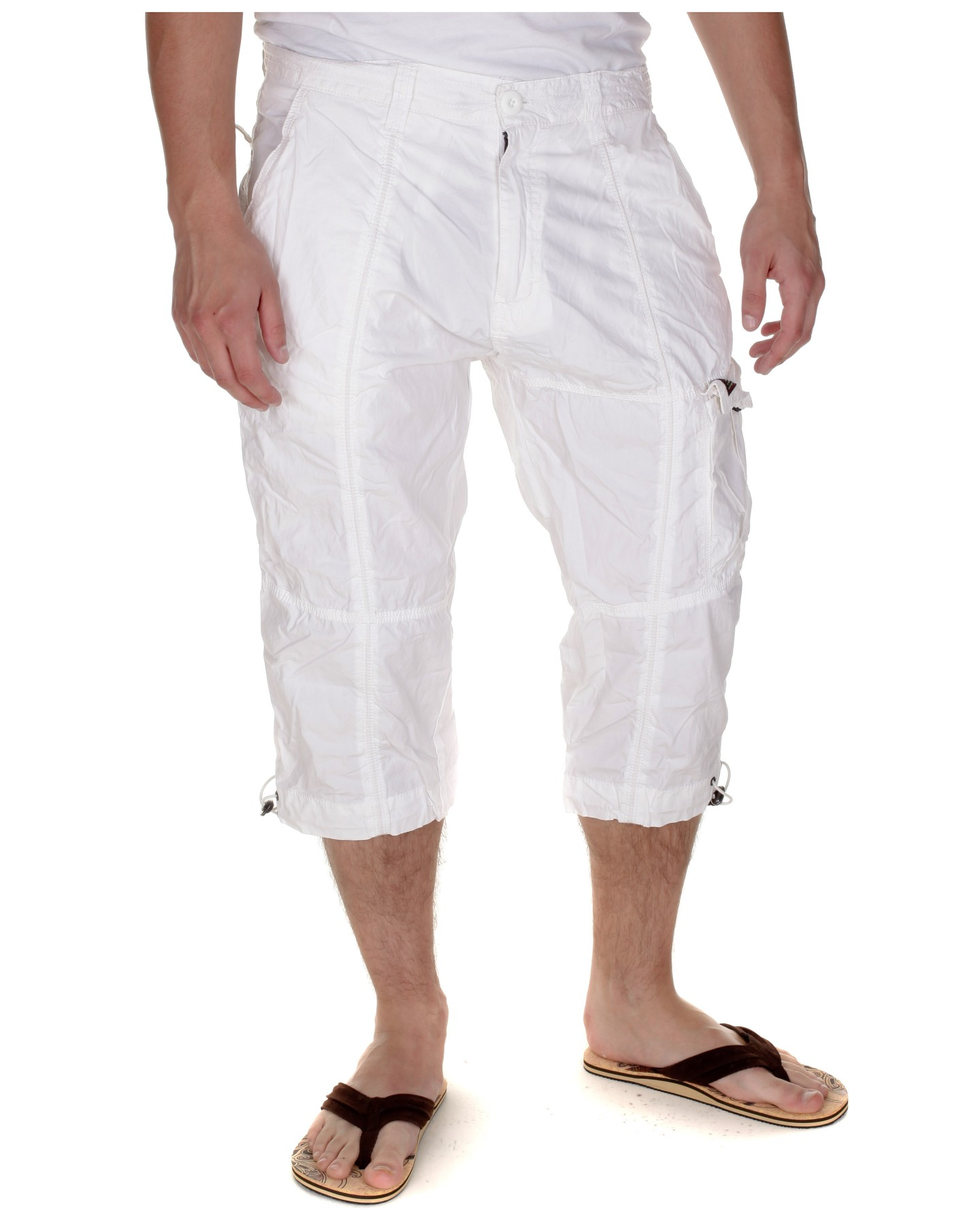 Blue-Inc-Mens-Long-Poplin-Cargo-Shorts-White