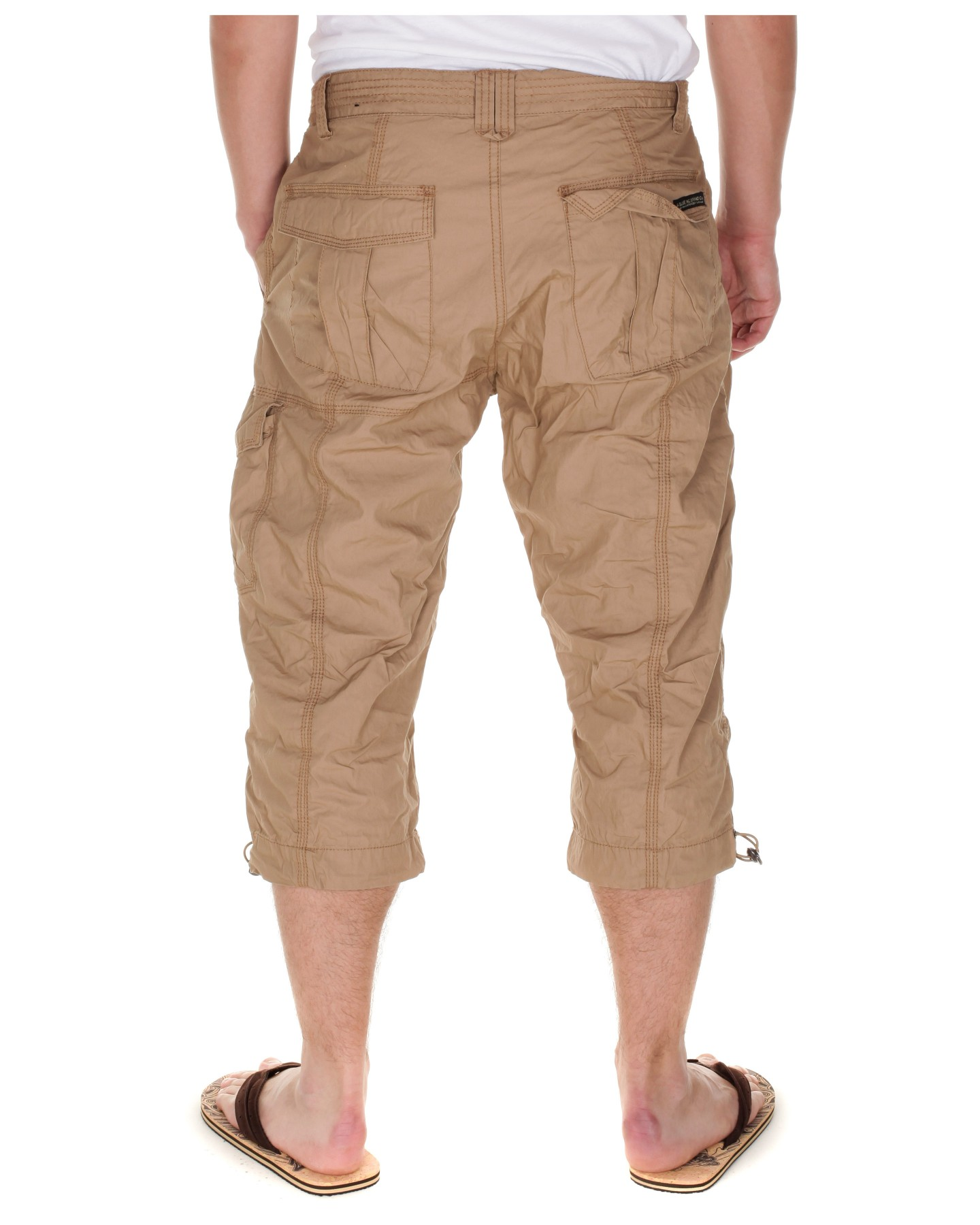 Blue-Inc-Mens-Long-Poplin-Cargo-Shorts-Dark-Stone