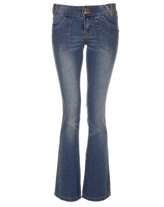 Blue-Inc-Womens-Bootcut-Skinny-Jeans-Midwash-New