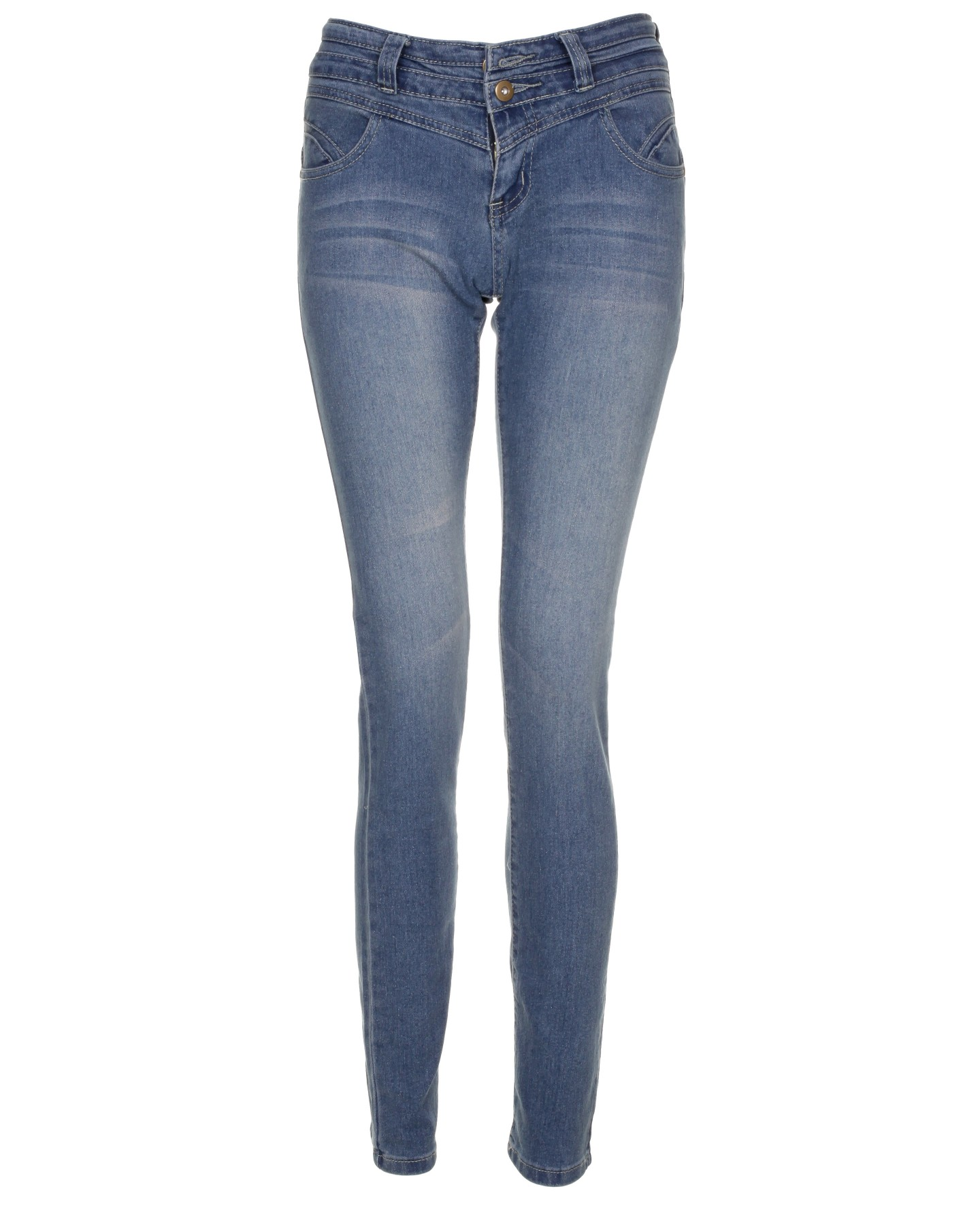 Blue-Inc-Womens-Vintage-High-Waist-Super-Skinny-Jeans-Midwash-New