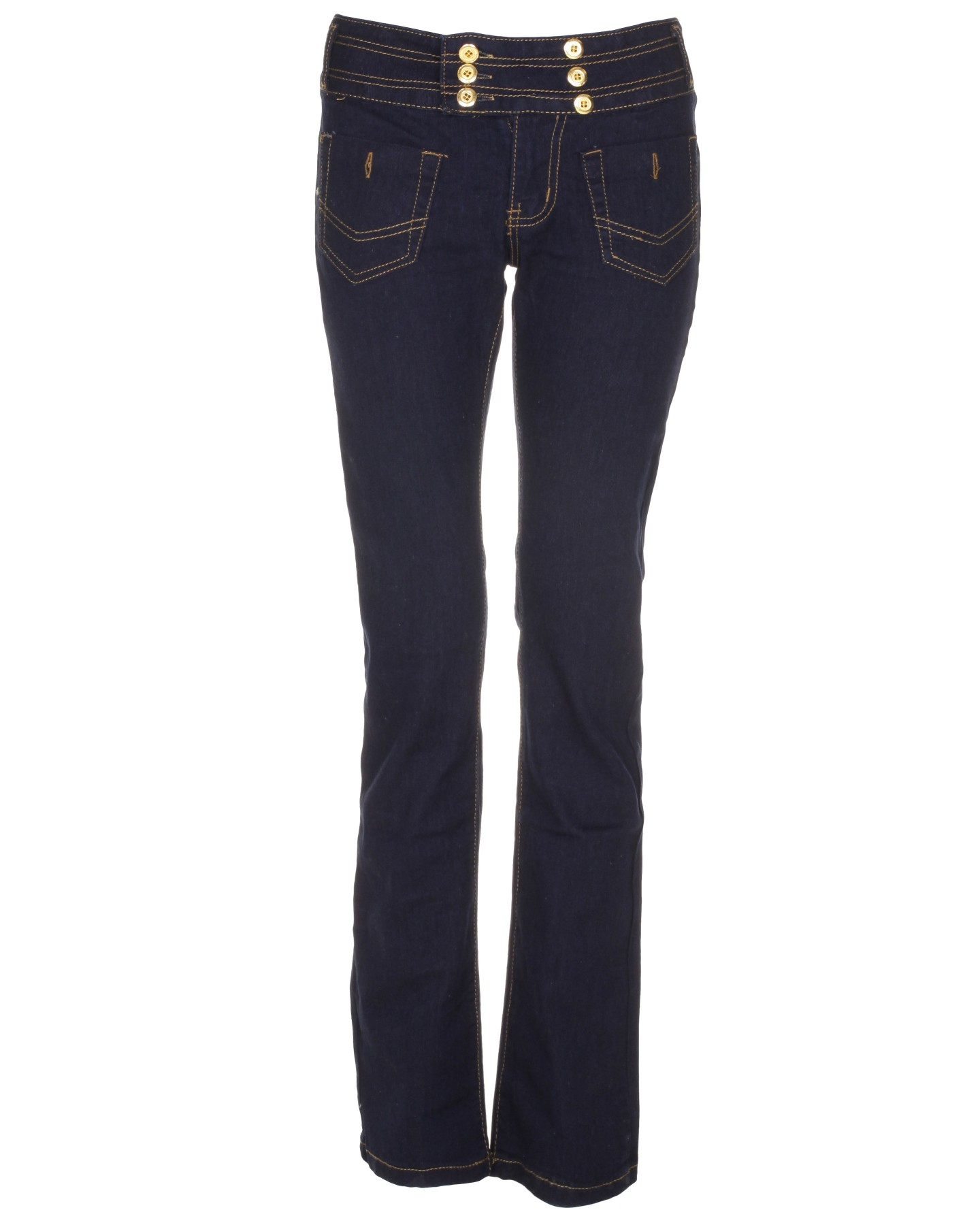Blue-Inc-Womens-Back-Pocket-Skinny-Jeans-Dark-Blue-New
