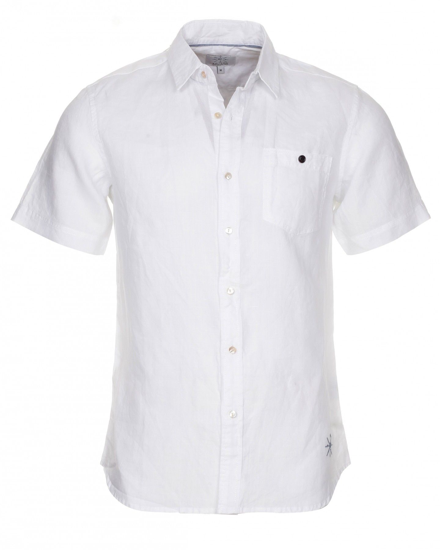 Blue-Inc-Mens-BC-London-Short-Sleeve-Linen-Shirt-White