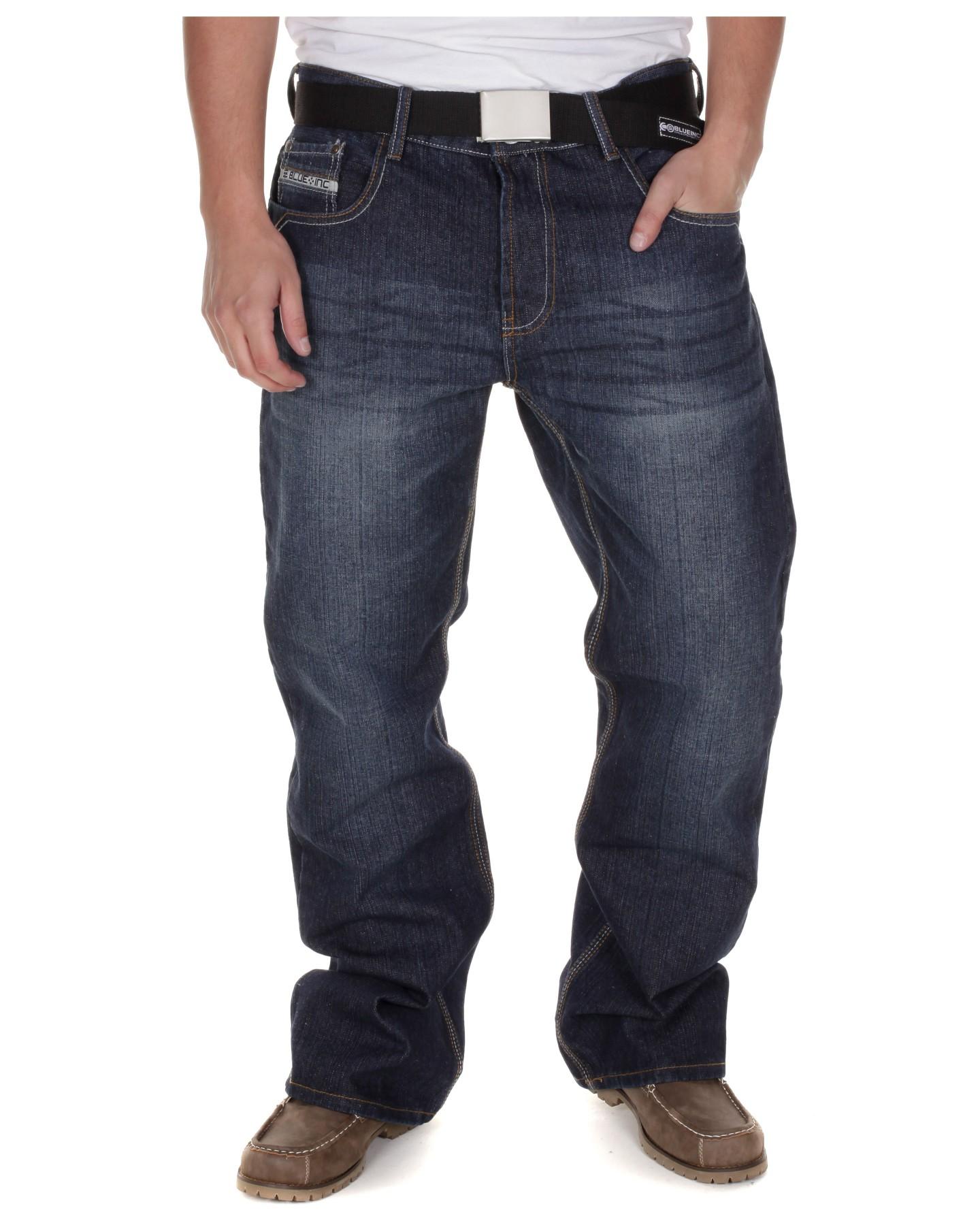 Blue-Inc-Mens-New-Sasha-Bootcut-Jeans-Rinse-Wash