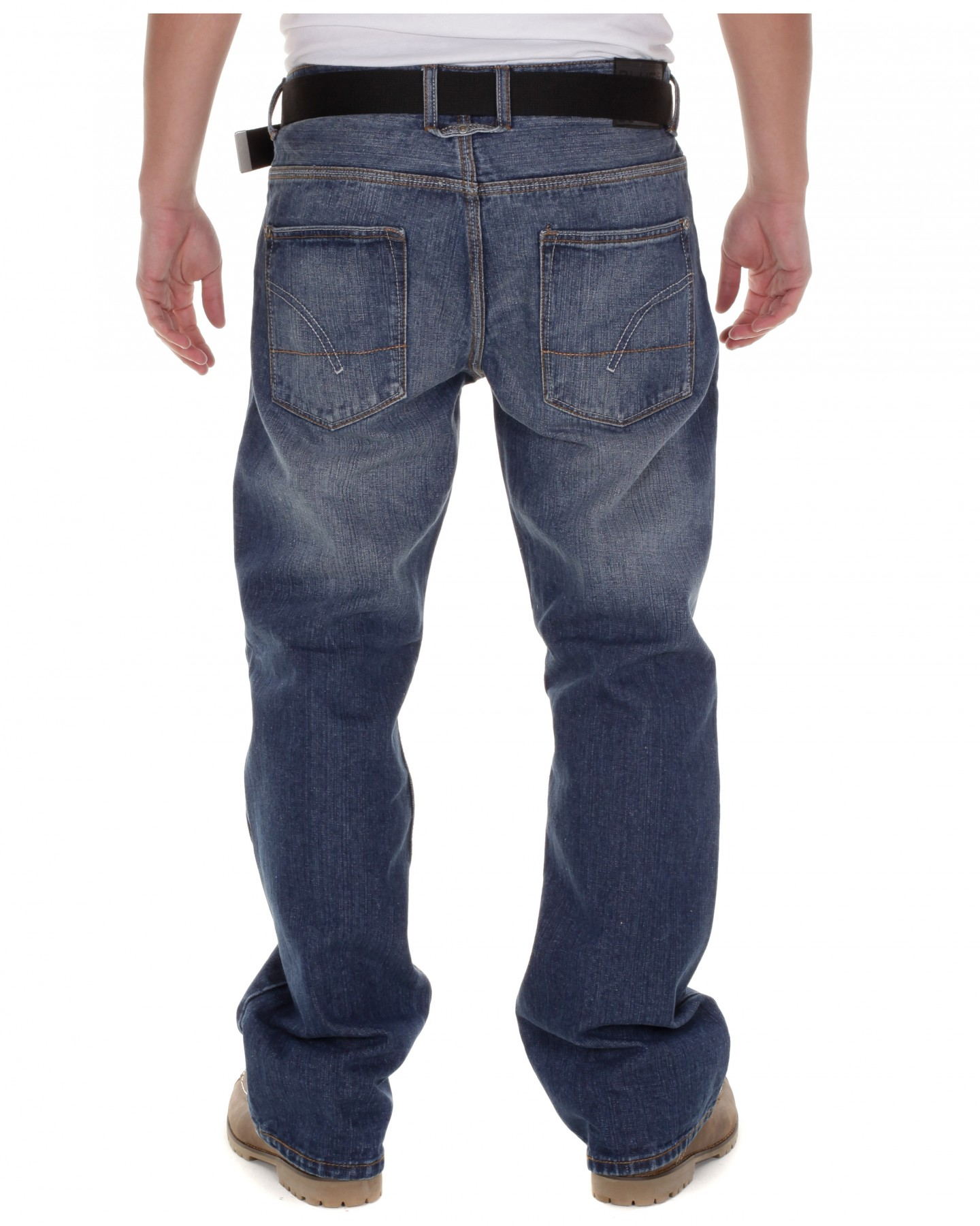 Blue-Inc-Mens-New-Sasha-Bootcut-Jeans-Stone-Wash