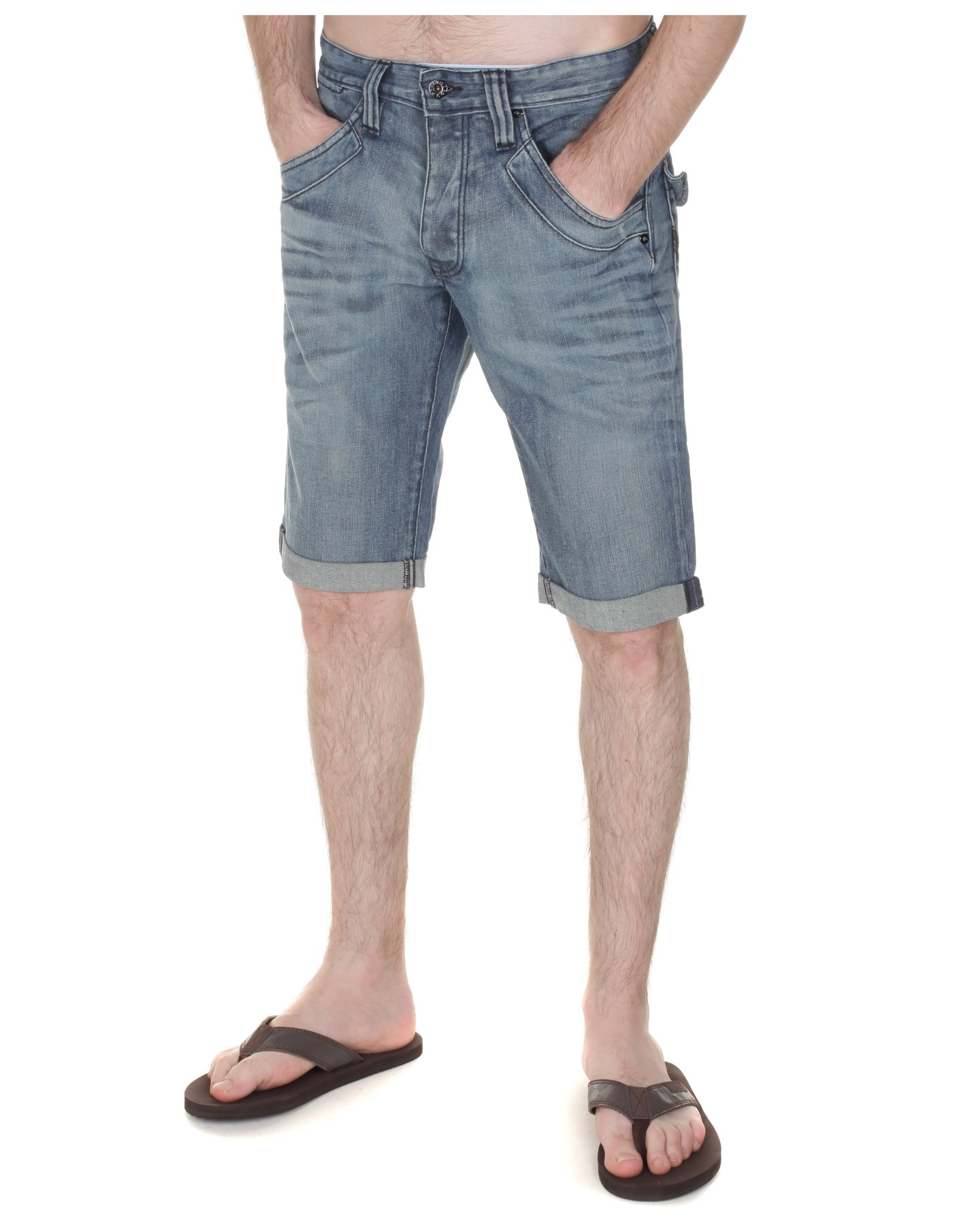 Firetrap-Mens-Turn-Up-Denim-Short