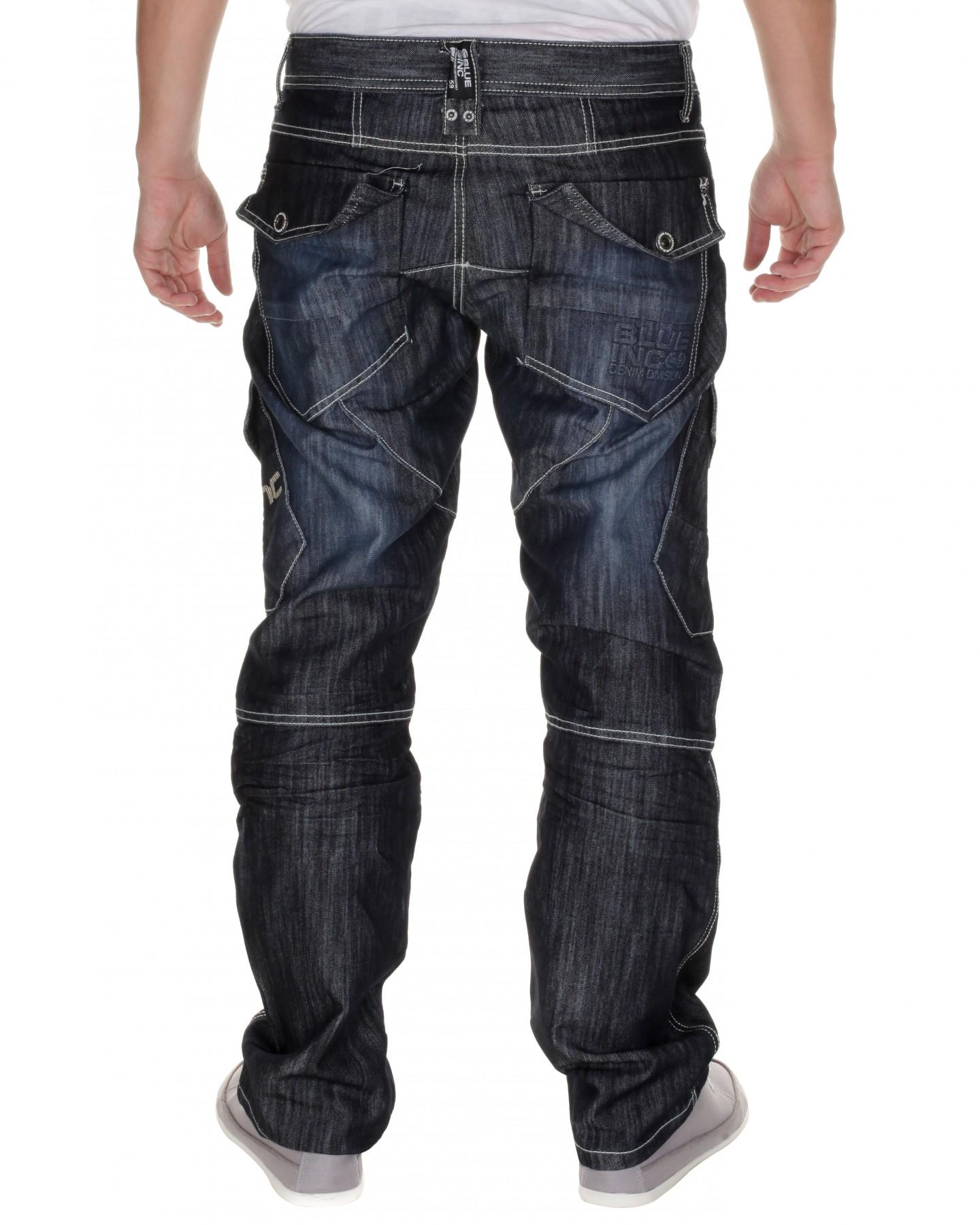 Blue-Inc-Mens-Cargo-Jeans-Dark-Wash