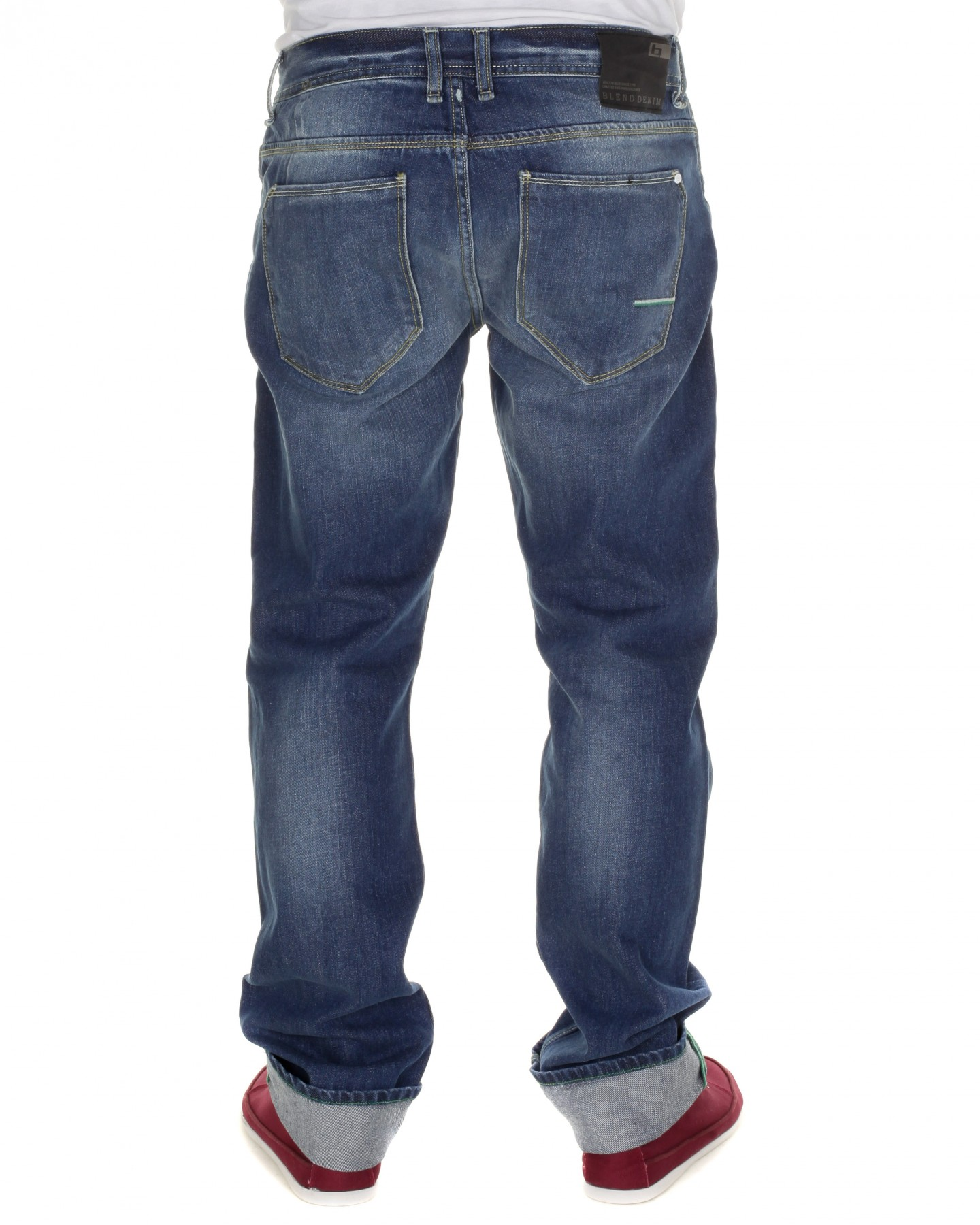Blue-Inc-Mens-Blend-Ripped-5-Pocket-Jeans-Blue-New