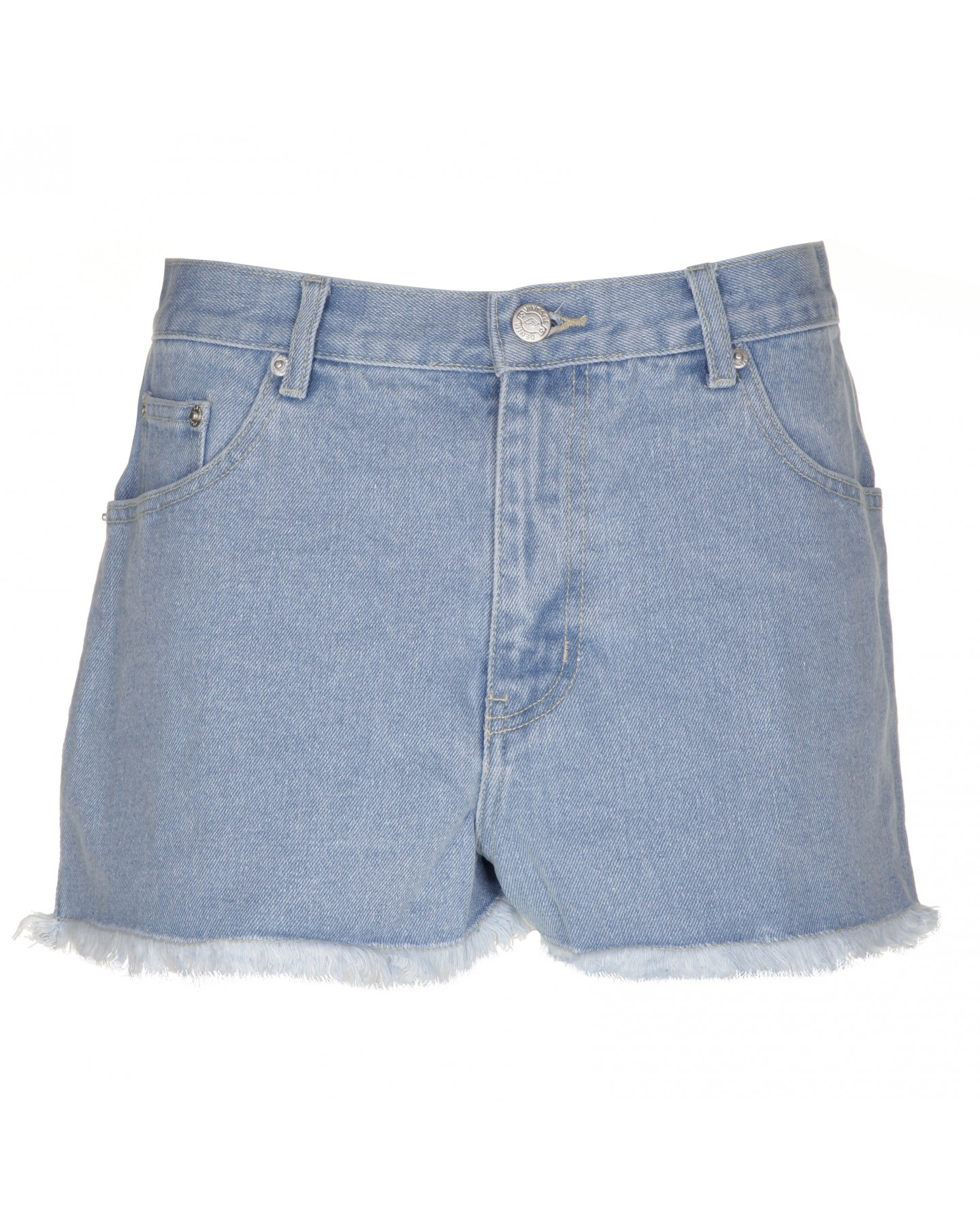 Blue-Inc-Womens-Frayed-Denim-Shorts-Light-Wash