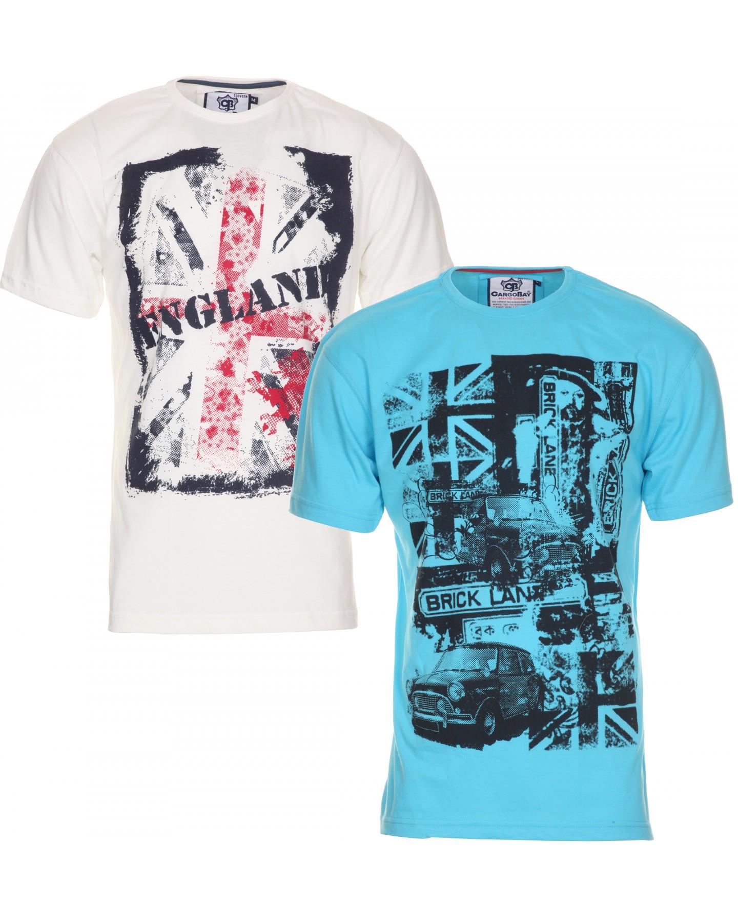 Blue inc mens blue inc mens cargo bay 2 pack t shirts for South bay t shirt printing