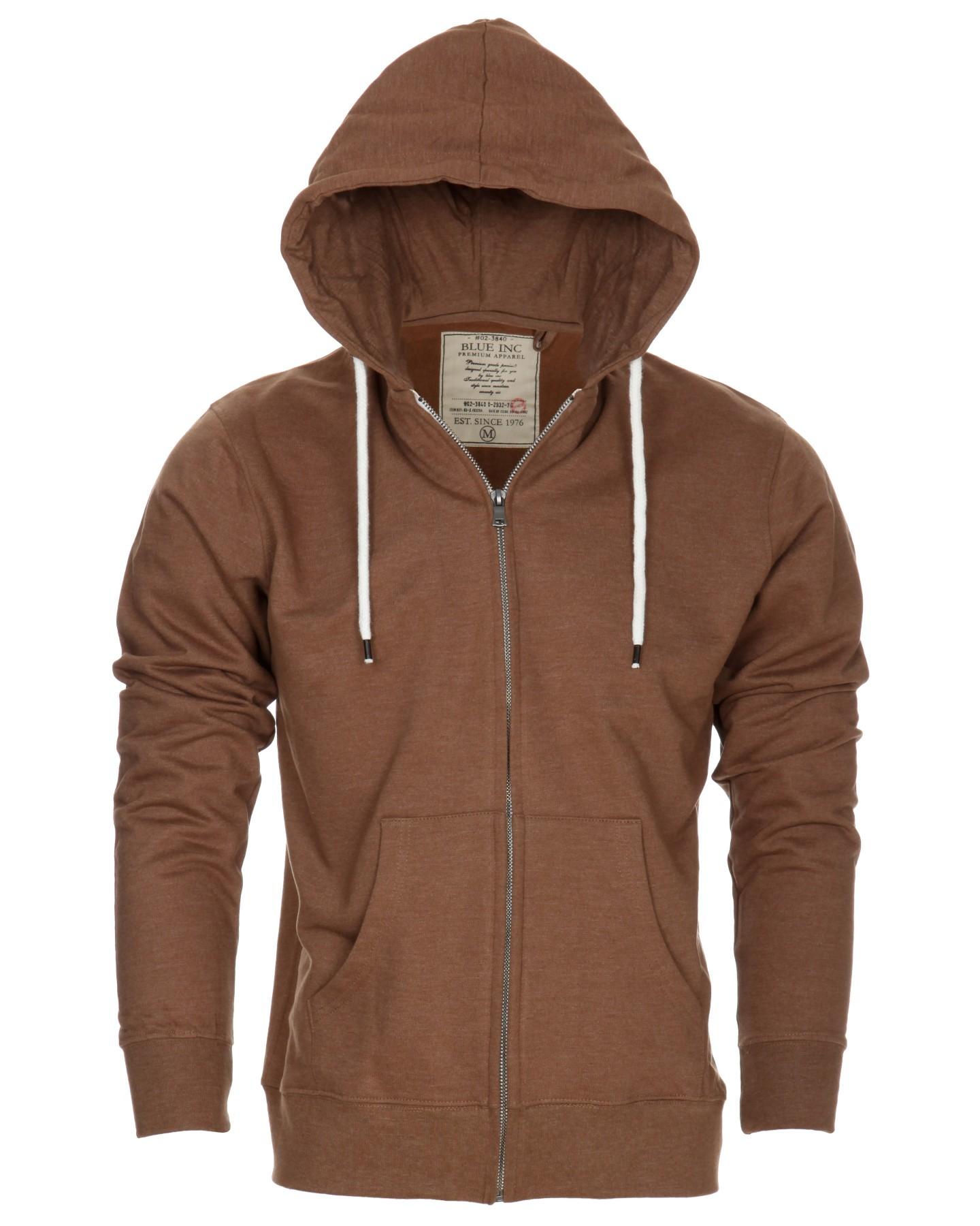 Blue-Inc-Mens-Denim-Marl-Zip-Hoody-Sweater-Tobacco