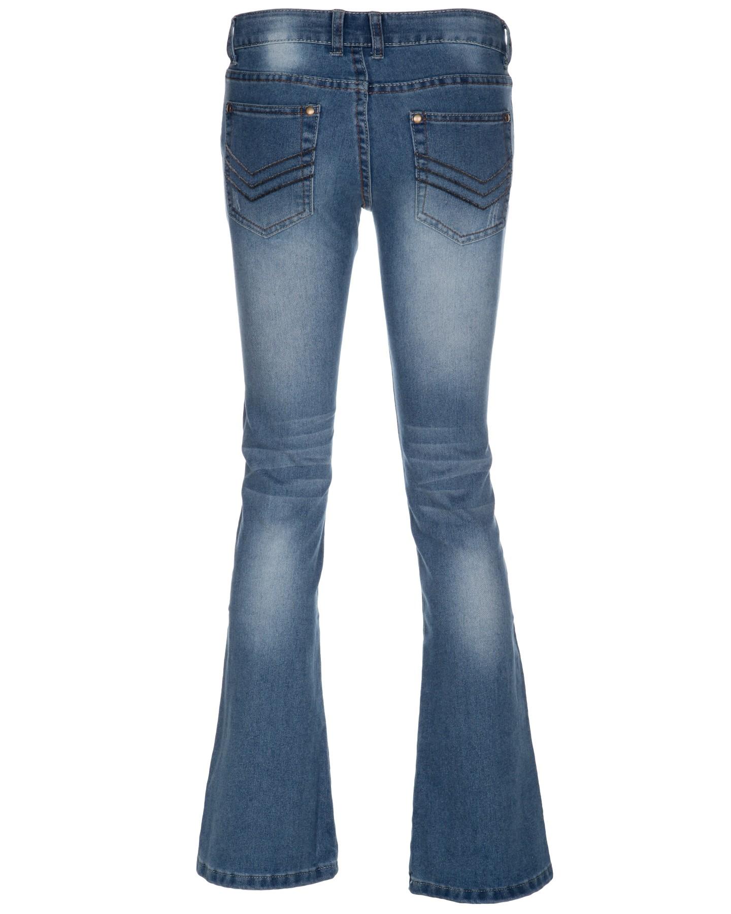 Blue-Inc-Womens-Bootcut-Denim-Jeans-Light-Blue