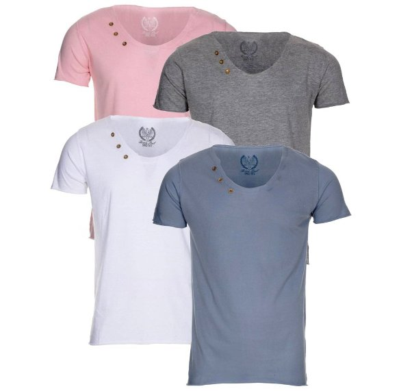Blue-Inc-Mens-Brave-Soul-2-Pack-Scoop-Neck-T-Shirt-New-Deal