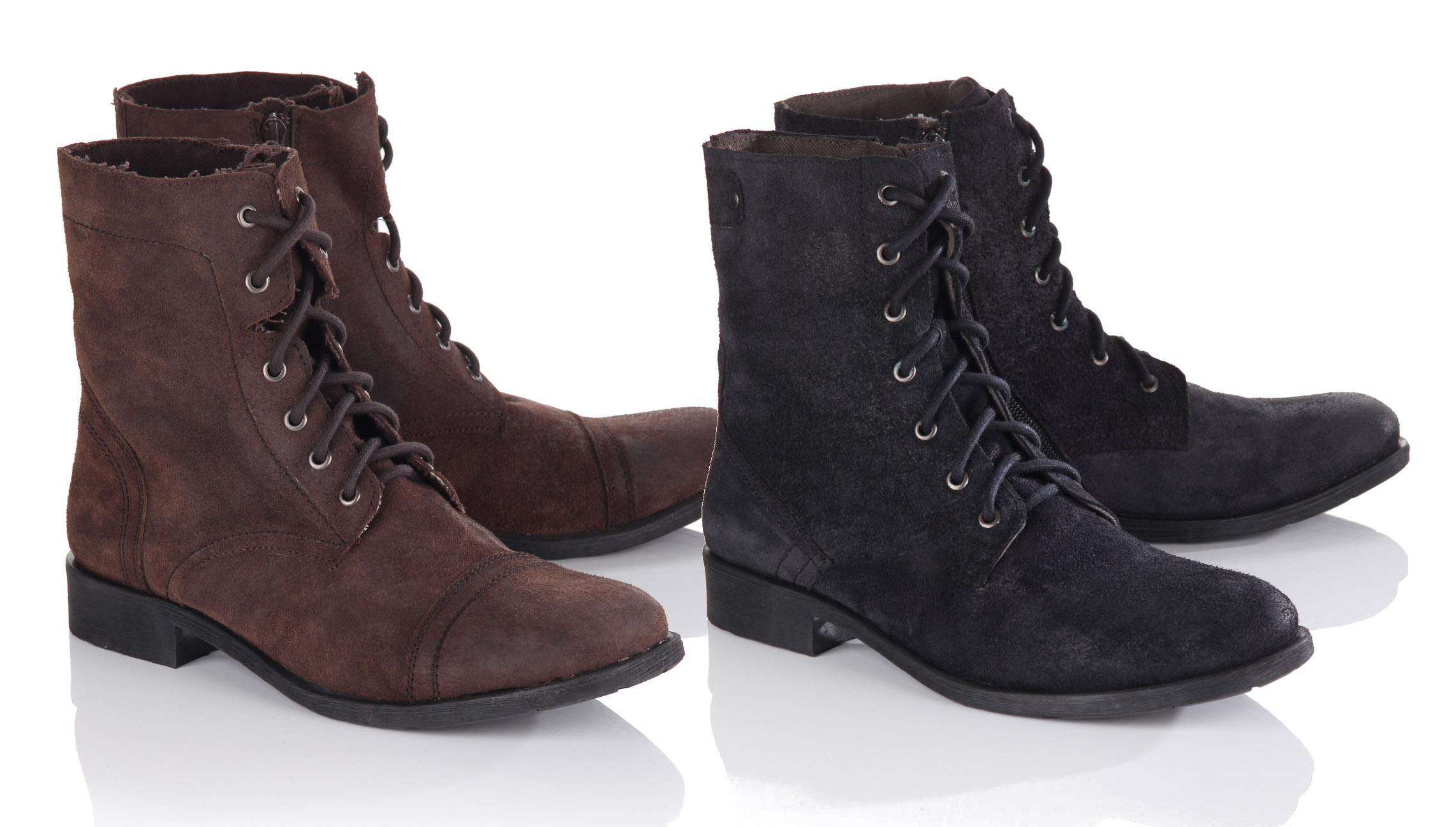 Blue-Inc-Mens-Frank-Wright-Lace-Up-Boot-Military-Style-Single-Choice-Black-Brown