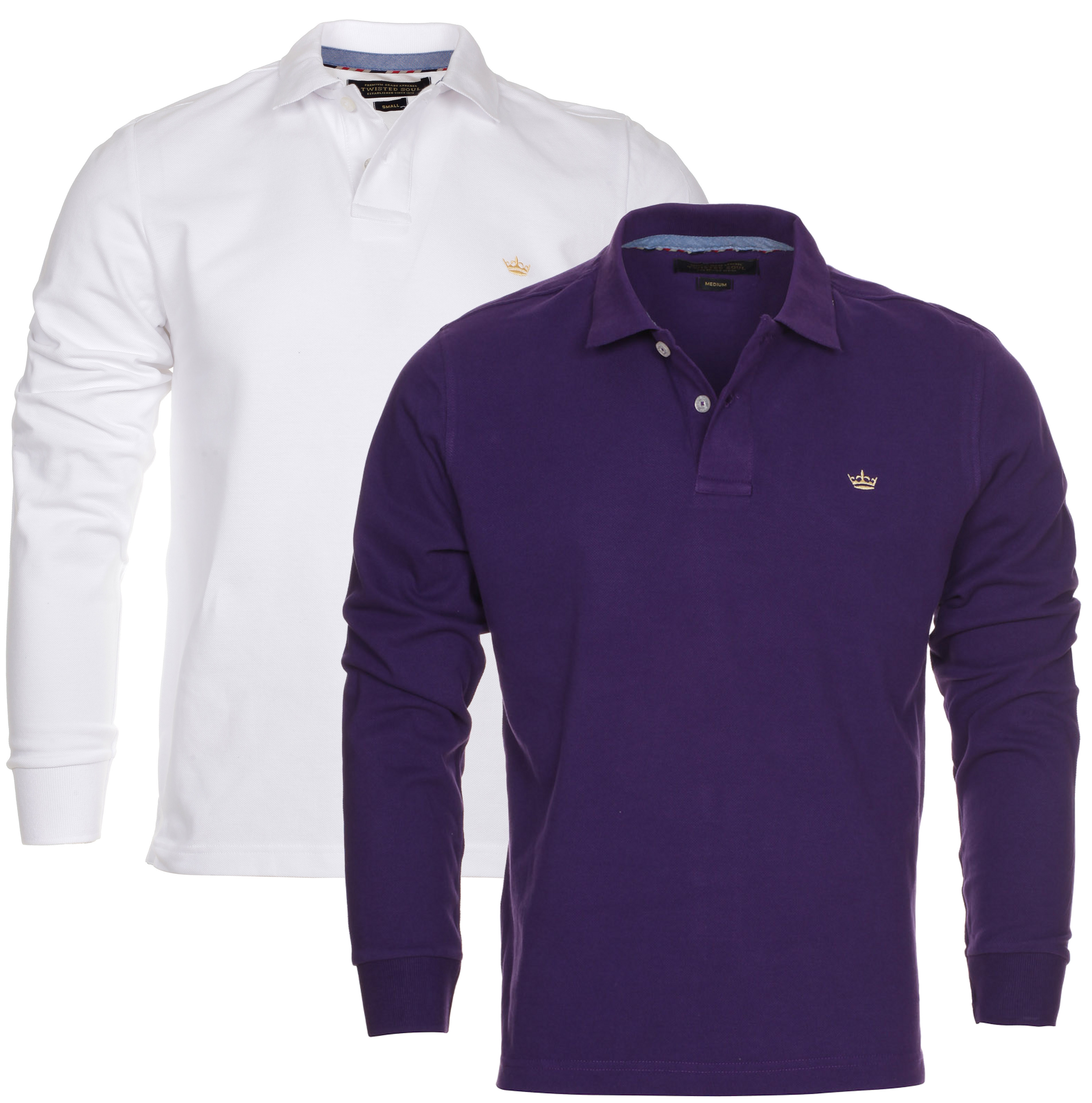 Blue-Inc-Mens-Twisted-Soul-2-Pack-Long-Sleeve-Dry-Polo-Shirt-New-Deal