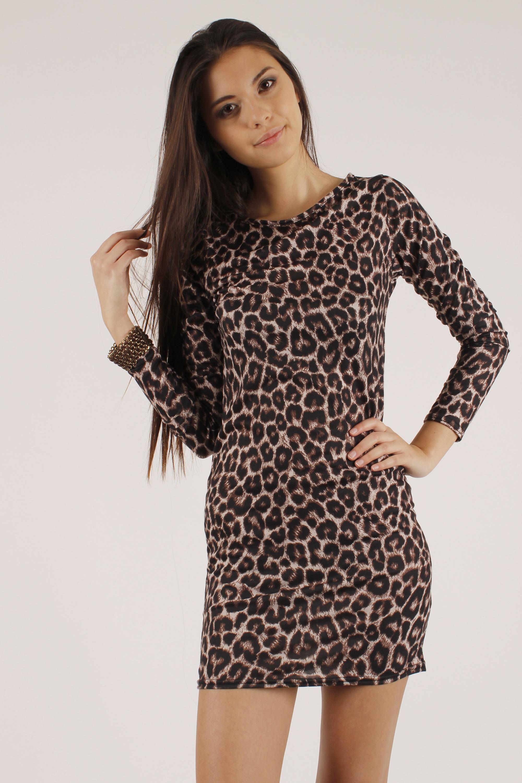 Leopard Print Long Dress