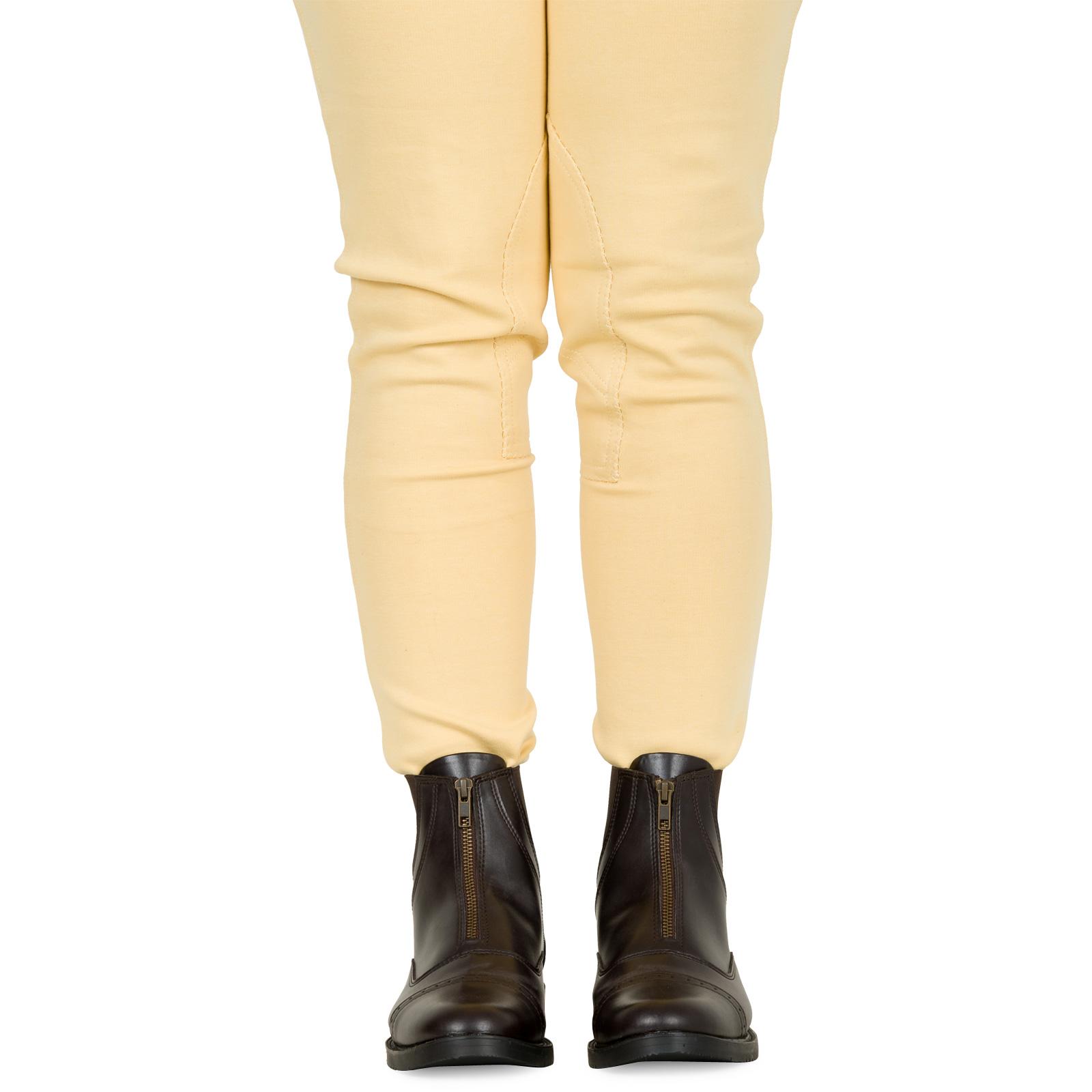 Horse Riding Equi Leather Ladies Front Zip Jodhpur Boot