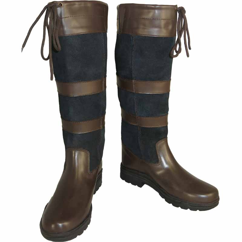 Ladies Mens Long Leather Water Resistant Country Walking Horse ...