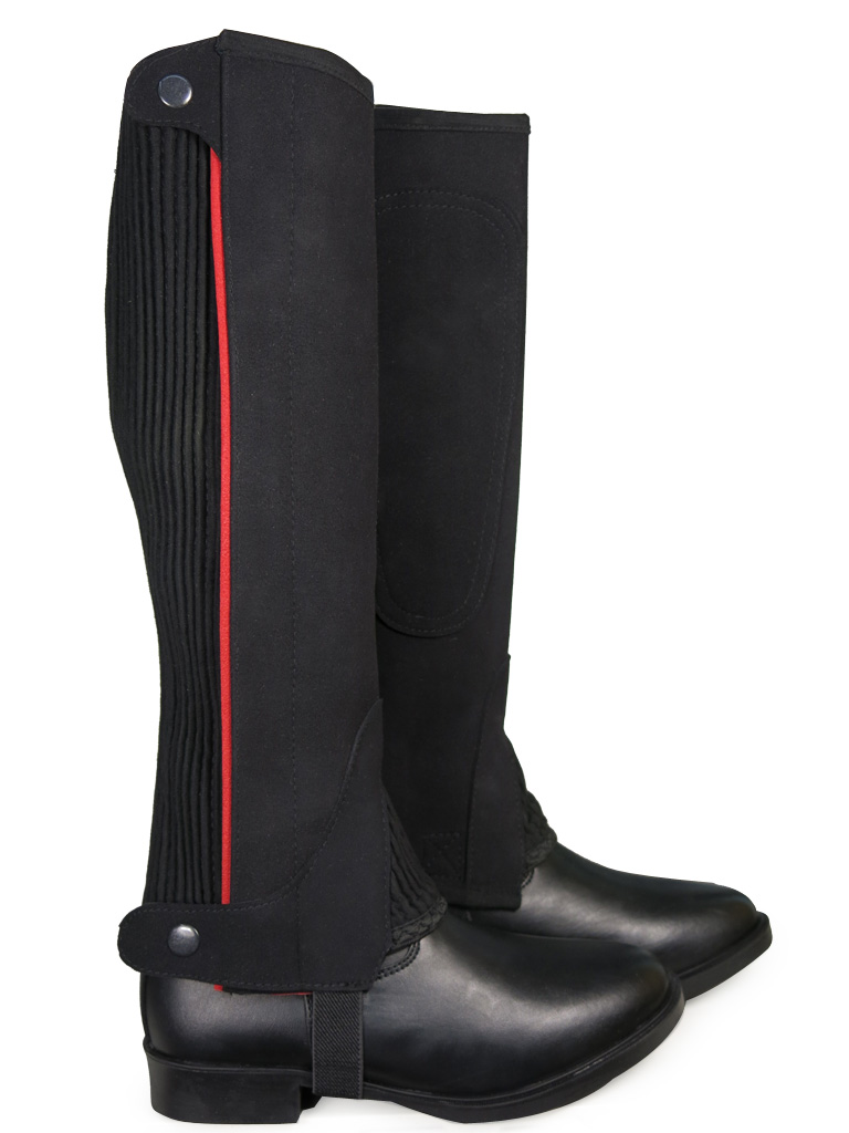 Ladies Mens Horse Pony Riding Amara Suede Washable Gaiters Half Chaps Size S-XXL