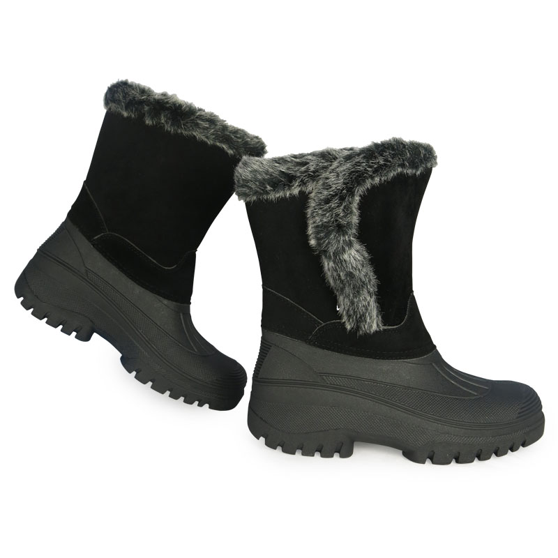 UNISEX WOMENS THERMAL FLEECE LINED FASHION SHORT MUCK FUR BOOT SIZES 3 4 5 6 7 8