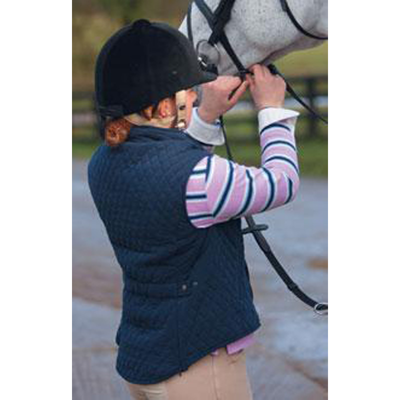 Womens Shires Equestrian Riding Quilted Full Zip Jacket Bodywarmer Gilet 8-18