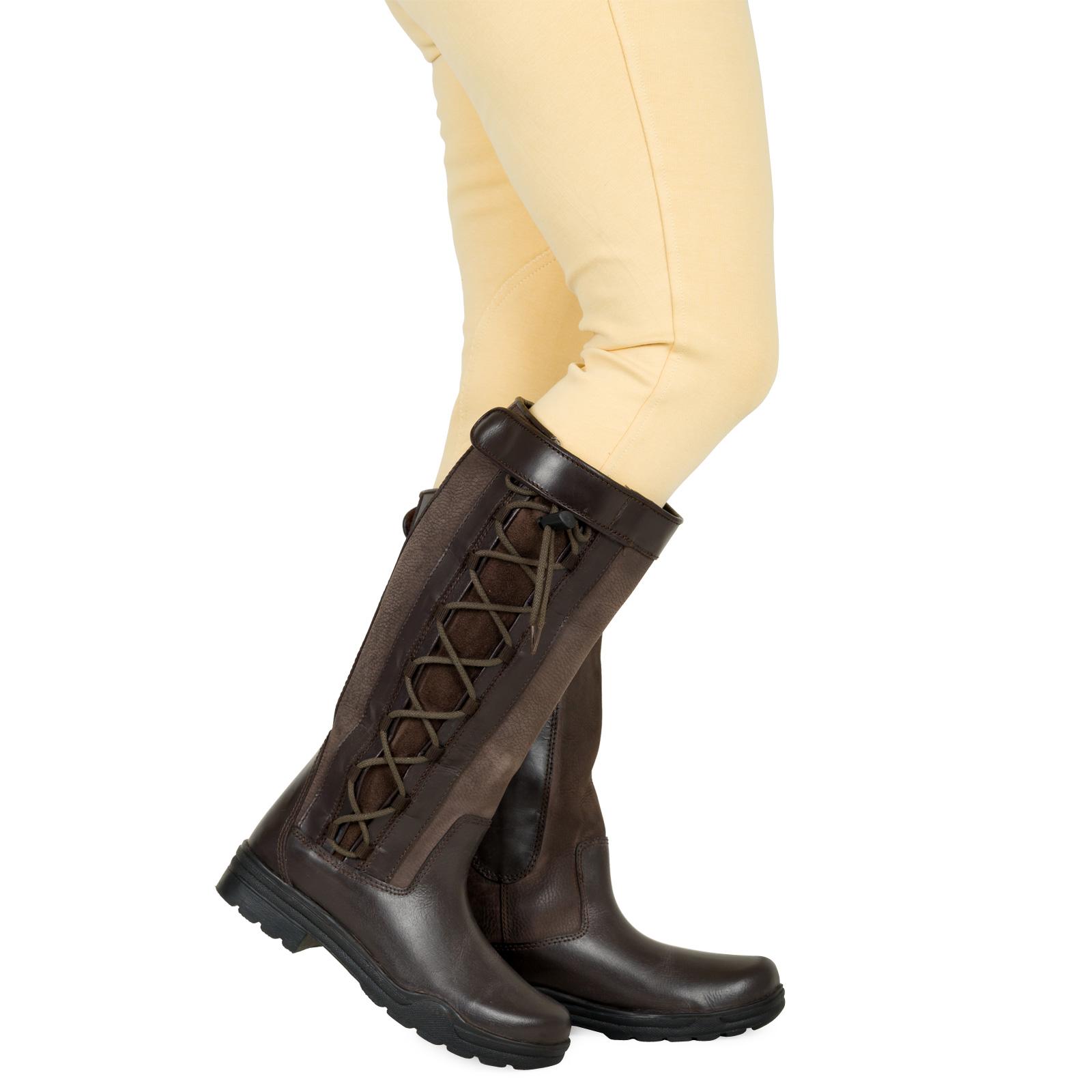 Womens Waterproof Winter Horse Riding Walking Leather