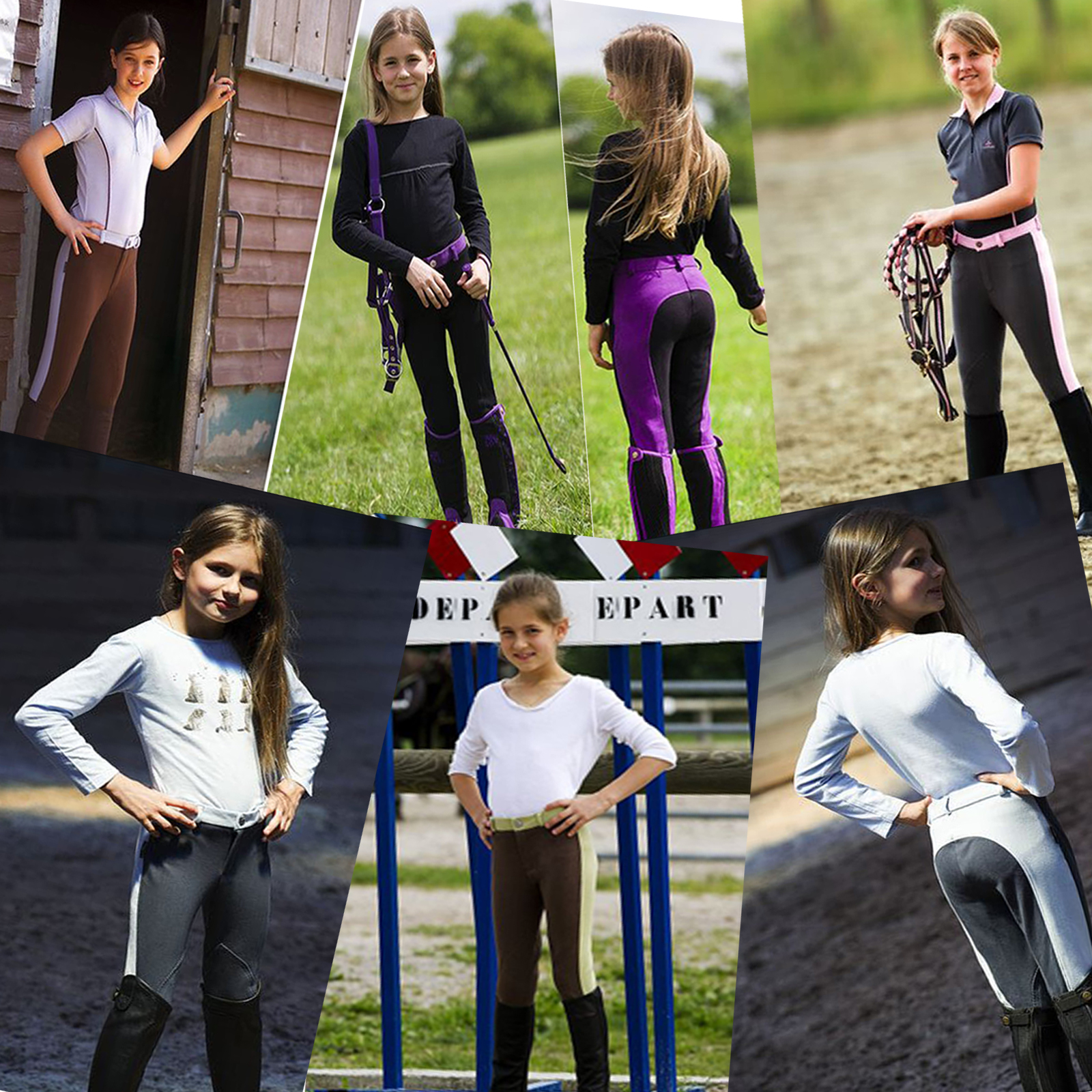 equi theme pro fun line kids child horse riding two tone. Black Bedroom Furniture Sets. Home Design Ideas