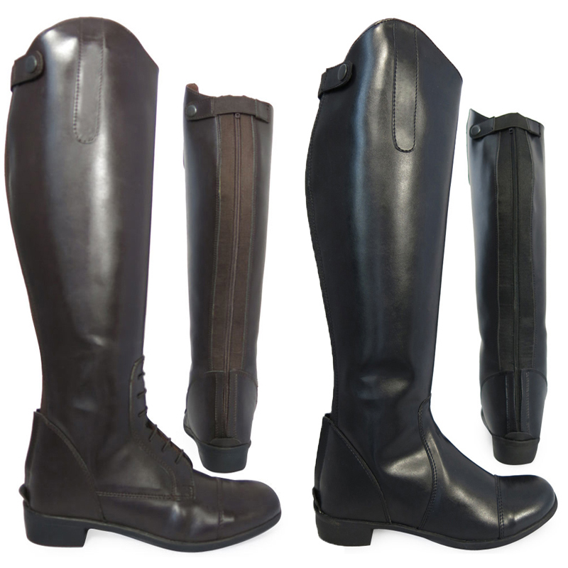 Adults-Equi-Leather-Horse-Riding-Showing-Jumping-Jodhpur-Long-Boots-Size-UK-3-10