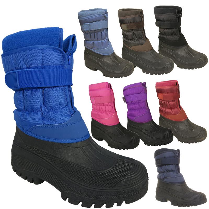 LADIES MENS WATERPROOF YARD WINTER WALKING SNOW SKI WELLINGTON MUCKER BOOTS 3-11