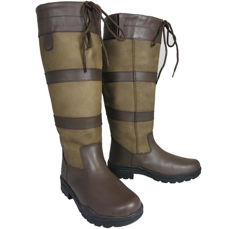 Ladies Mens Waterproof Winter Horse Farm Wellies Leather