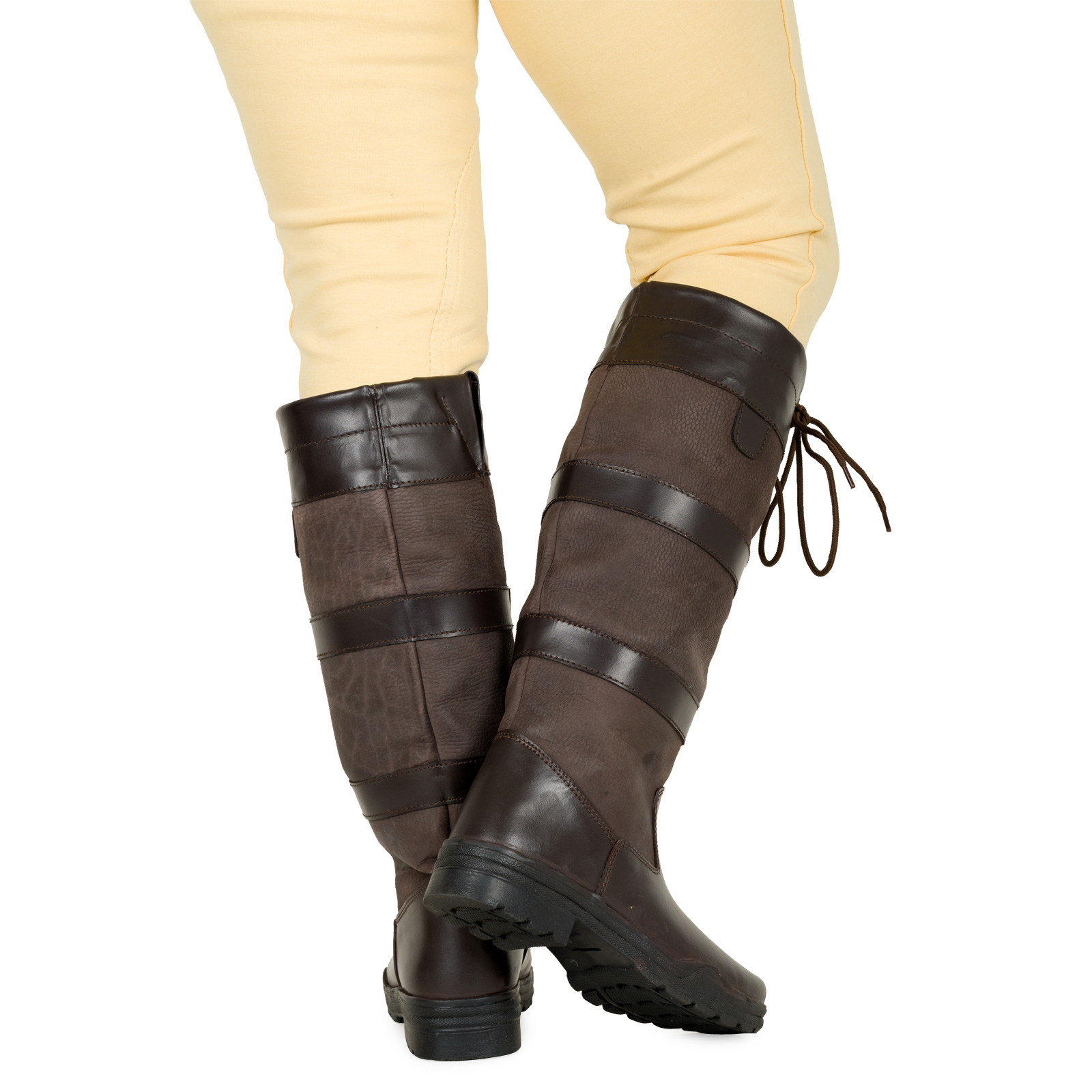 Ladies-Mens-Waterproof-Winter-Horse-Farm-Wellies-Leather-Country-Boots-Size-3-11