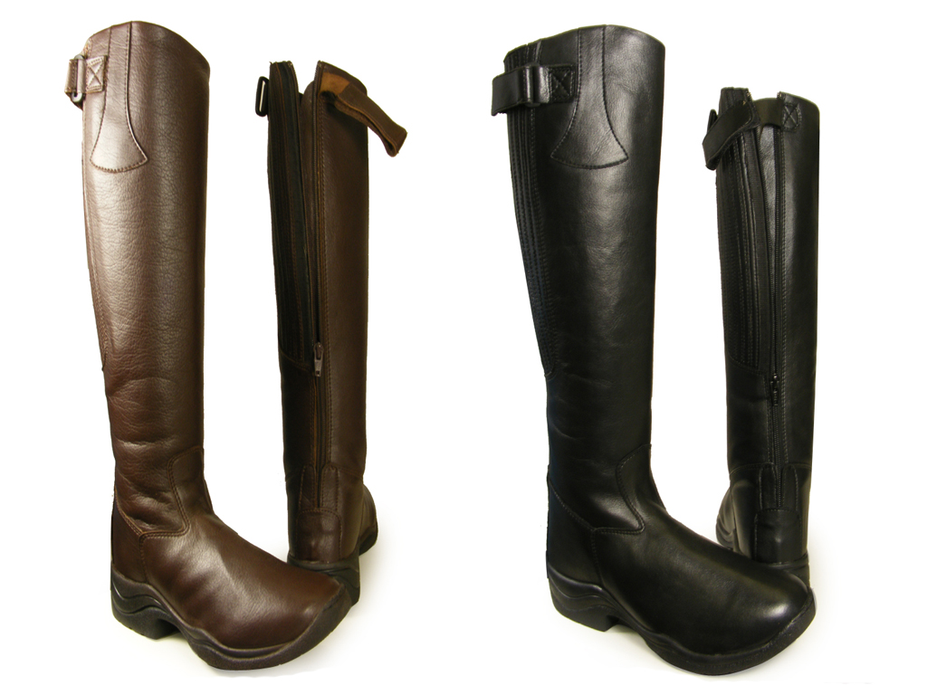 BLACK-BROWN-RIDING-EQUI-LEATHER-LONG-BOOTS-ALL-SIZES-UK