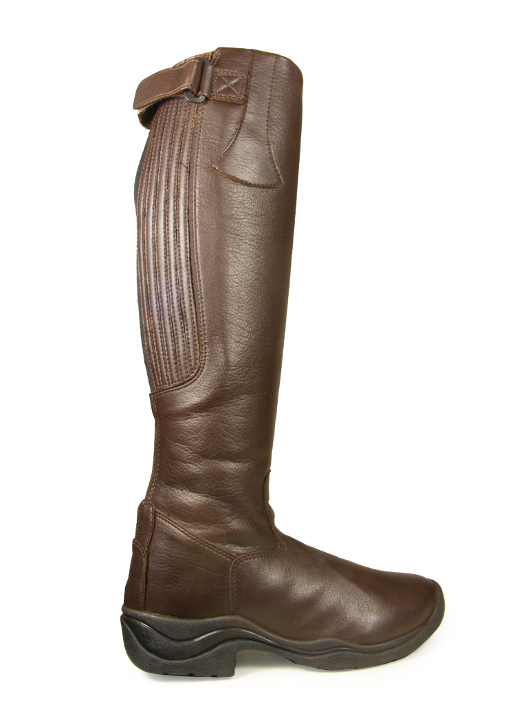 BROWN-HORSE-RIDING-EQUI-LEATHER-STANDARD-WIDE-LONG-BOOTS-SIZES-3-4-5-6-7-8-9-10