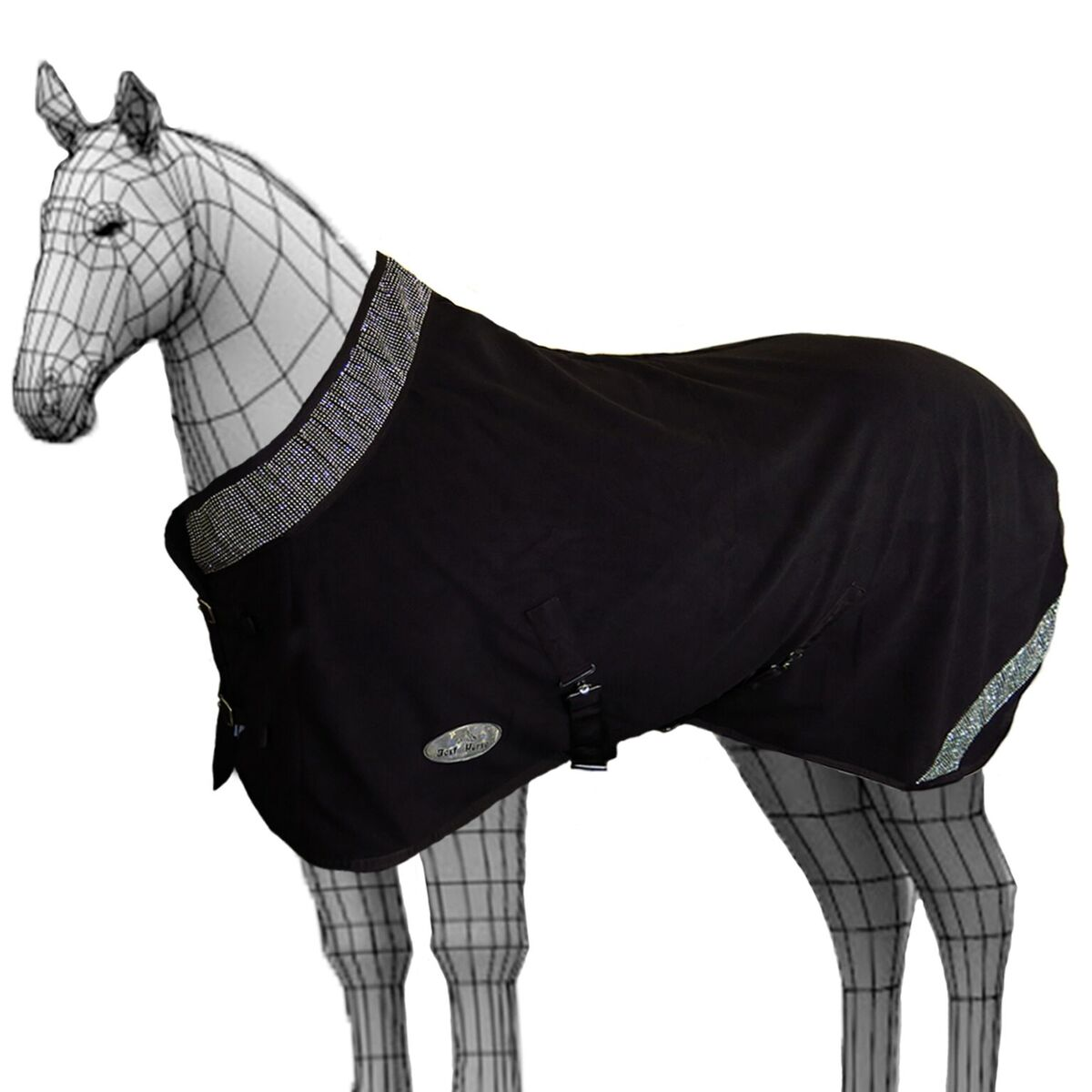 Details About Pony Horse Riding Winter Warm Comfy Crystal Fleece Normal Neck Sheet Rug
