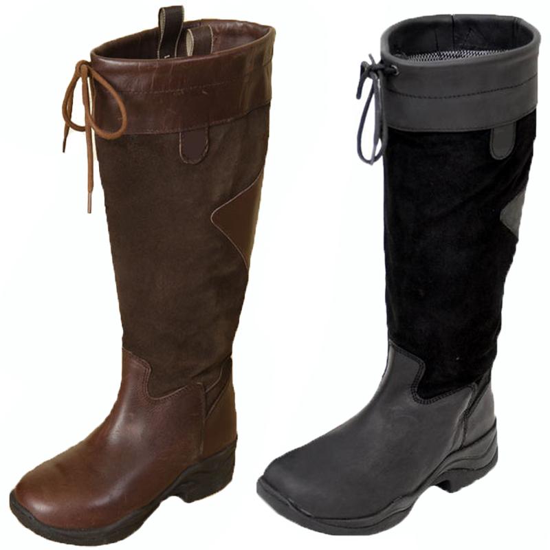 womens walking leather mucker wellington