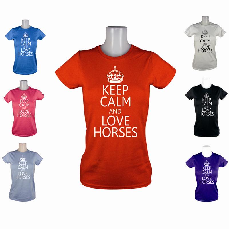 NEW-LADIES-KEEP-CALM-LOVE-HORSES-COB-PONY-RIDING-CLOTHES-JODHPURS-T-SHIRT-XS-XL