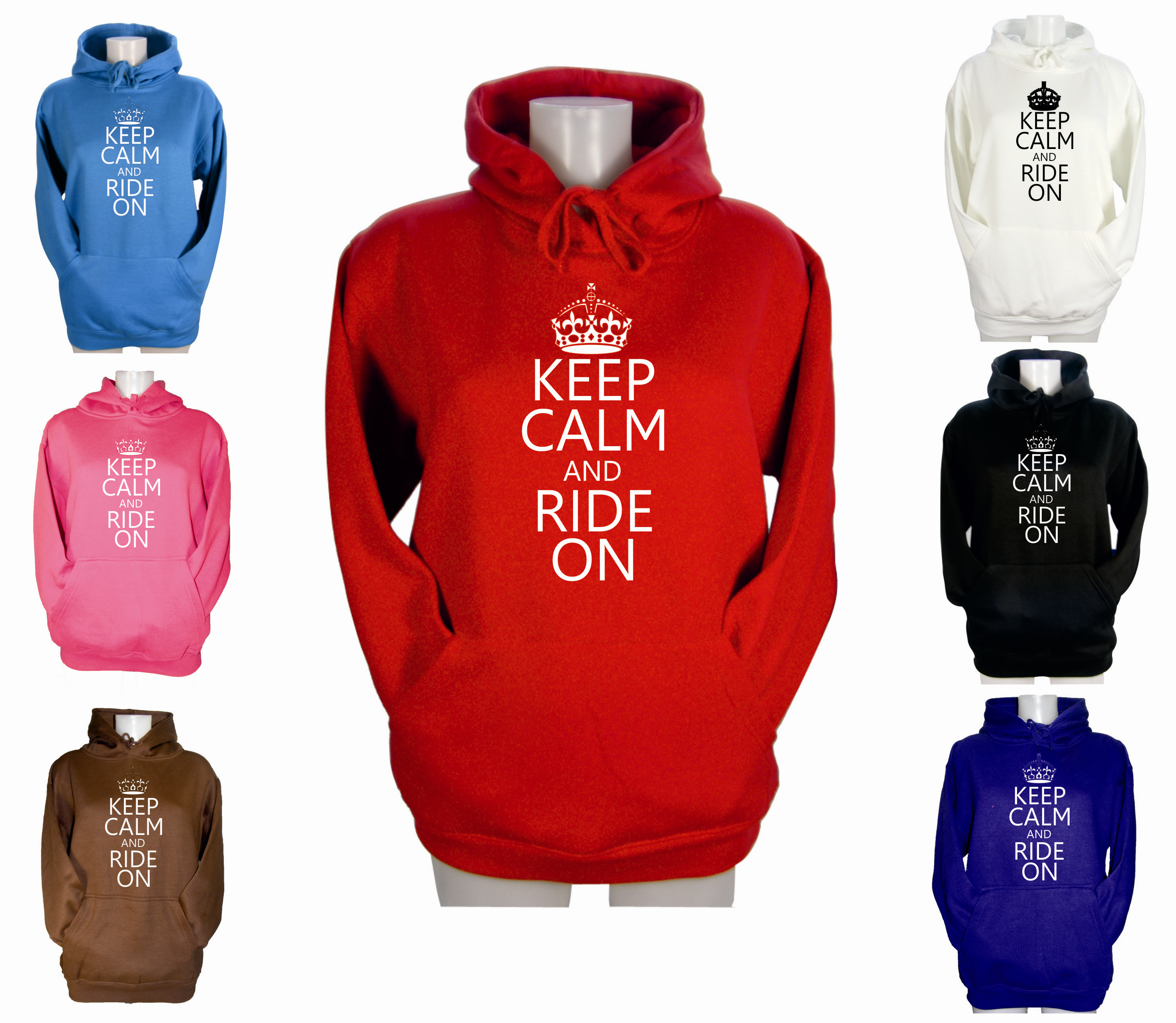 LADIES-KEEP-CALM-AND-RIDE-ON-HOODIE-GIRL-HORSE-RIDING-JODHPURS-HOODY-XS-S-M-L-XL