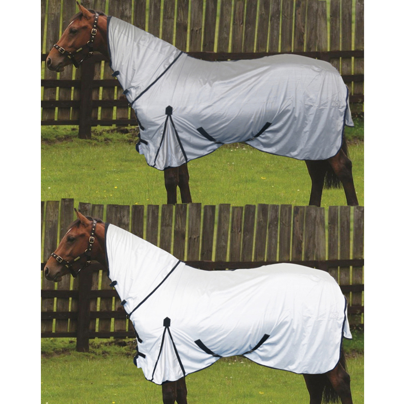 Horse-Lightweight-Summer-Protection-Cover-Fixed-Neck-Sheet-Combo-Fly-Rug-Size-UK