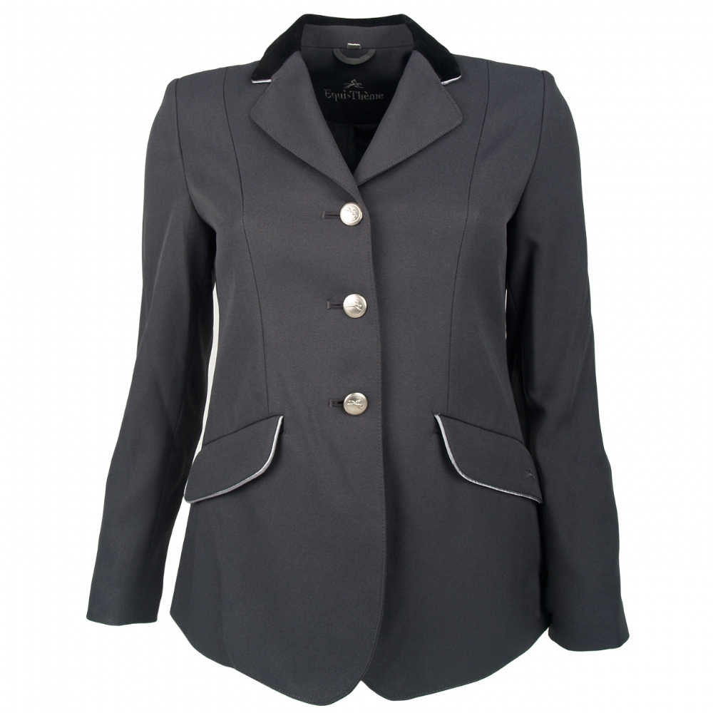 Equi Theme Ladies Fitted Show Conpetition Jacket Black Navy Grey ...