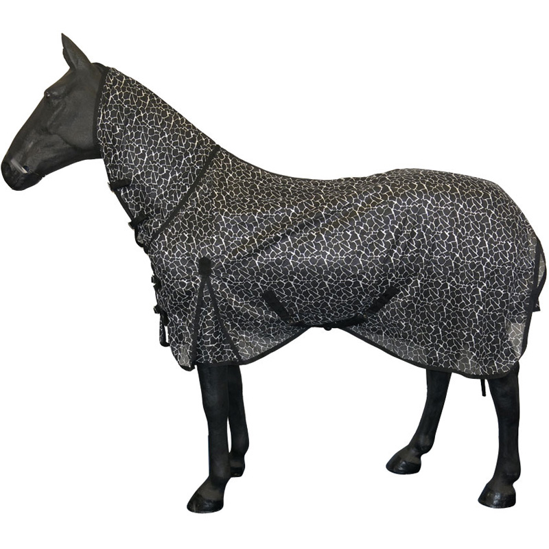 NEW-HORSE-RIDING-FULL-NECK-BELLY-TURNOUT-SUMMER-COVER-COMBO-FLY-RUG-SIZE-46-70