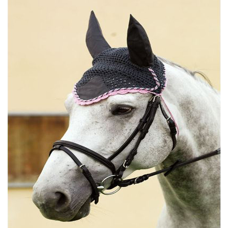 Free Crochet Horse Fly Mask Pattern : EQUI THEME HORSE PONY FLY MASK - RIDING CROCHETED EAR ...